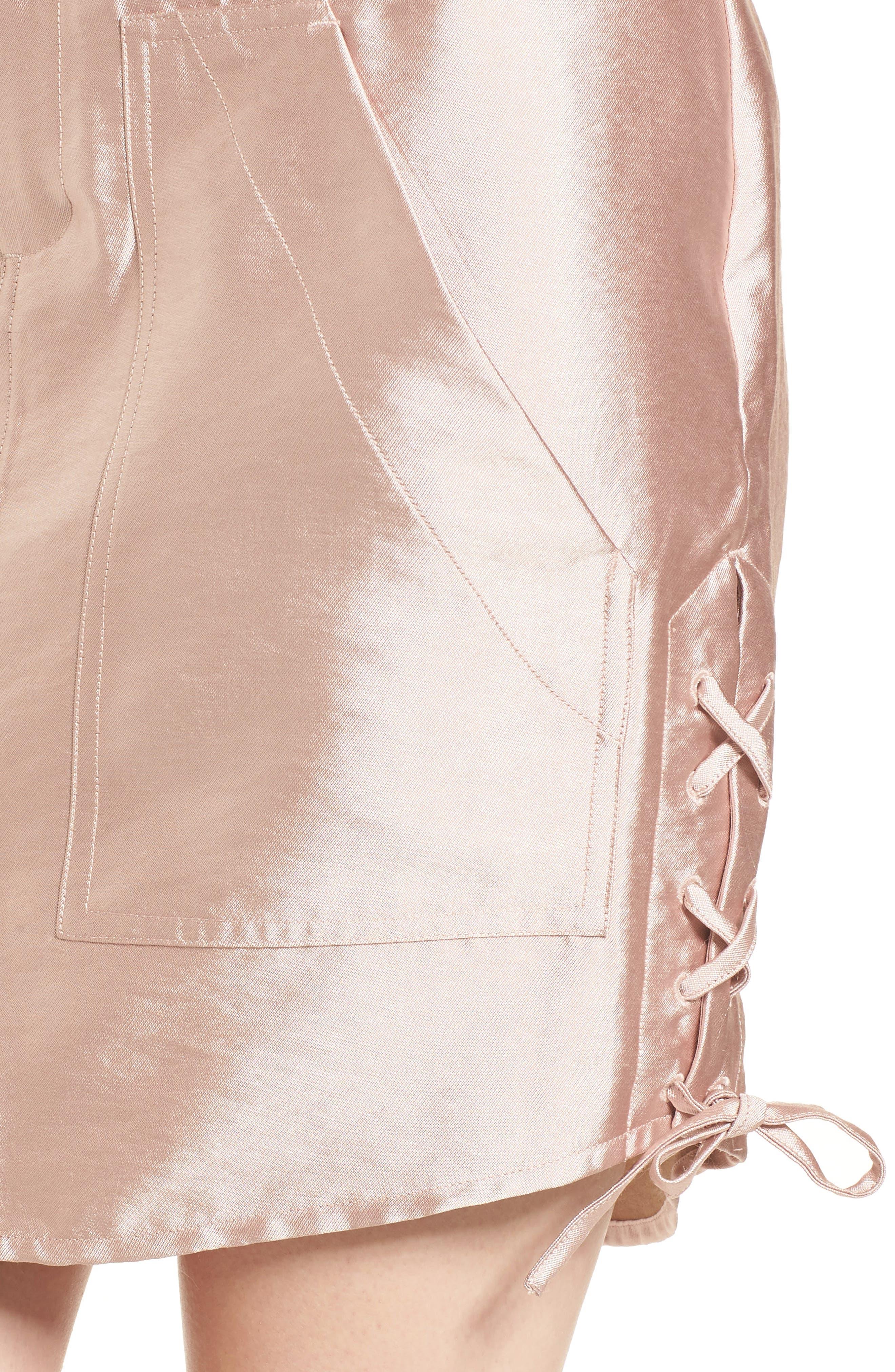 Shiny Safari Skirt,                             Alternate thumbnail 4, color,                             650