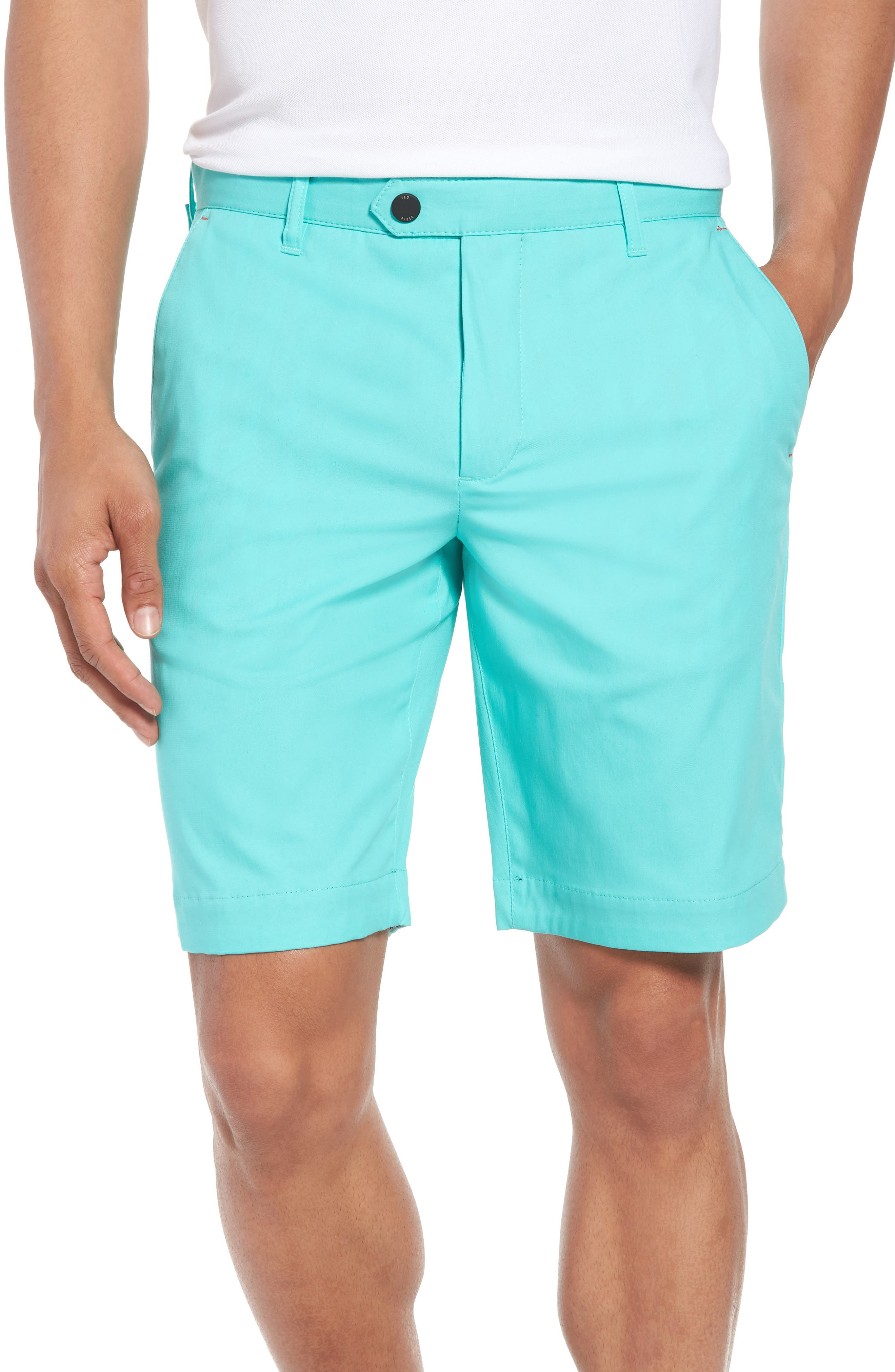 Twopar Flat Front Shorts,                             Main thumbnail 1, color,                             GREEN