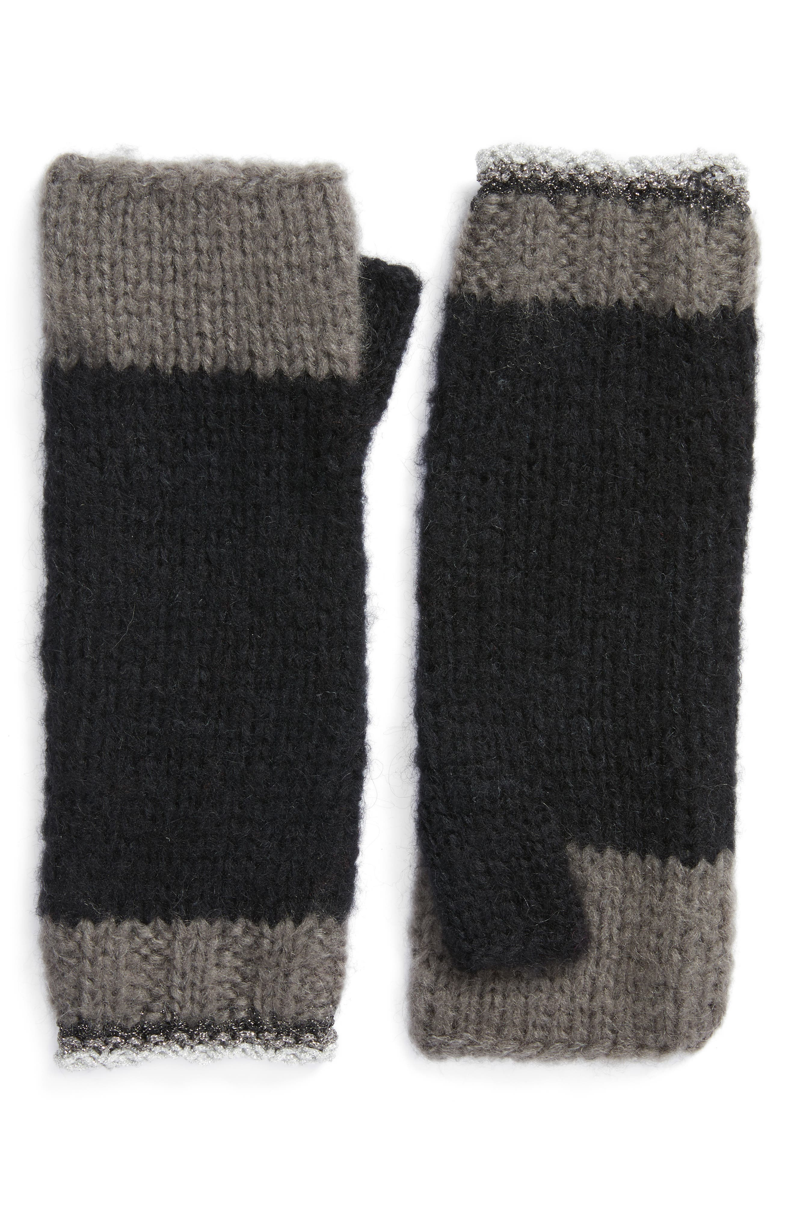 Metallic Tipped Arm Warmers,                             Main thumbnail 1, color,                             001