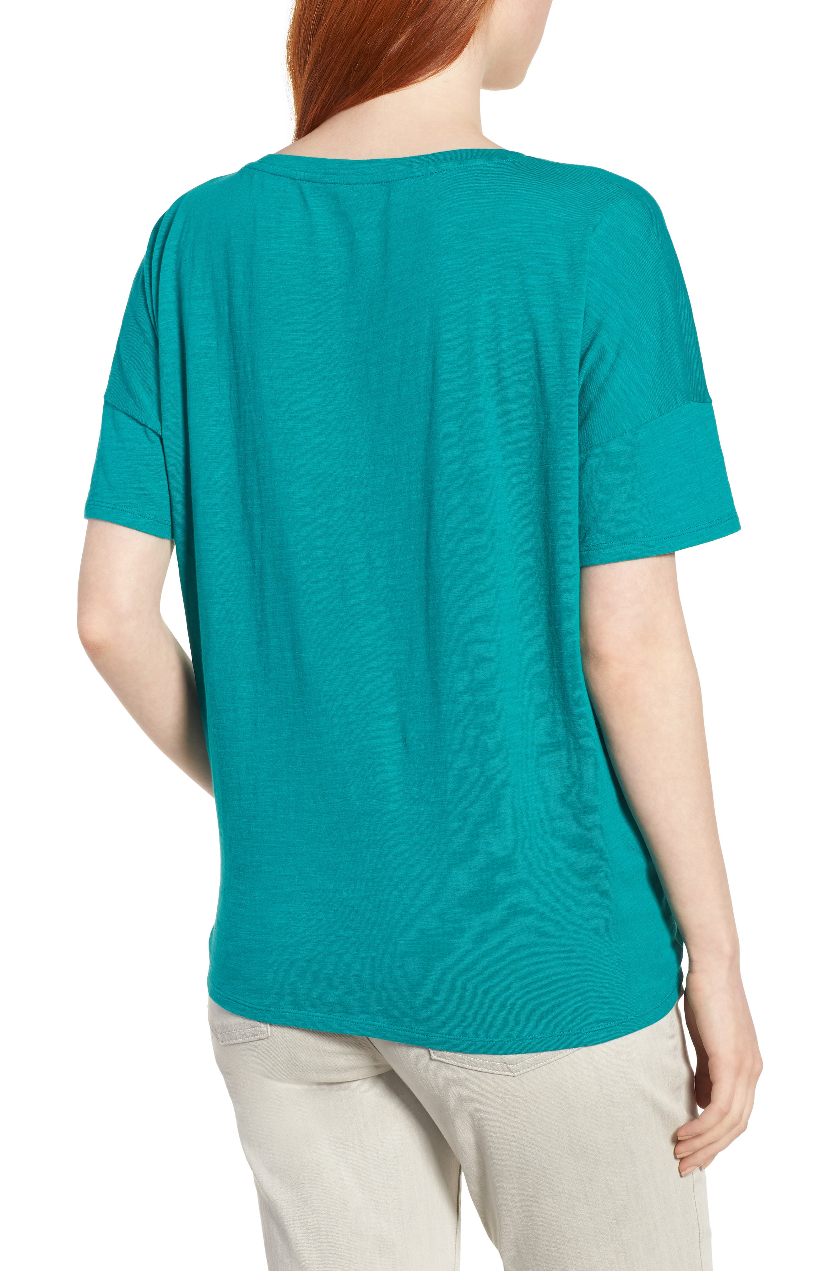 Tie Hem Organic Cotton Tee,                             Alternate thumbnail 10, color,