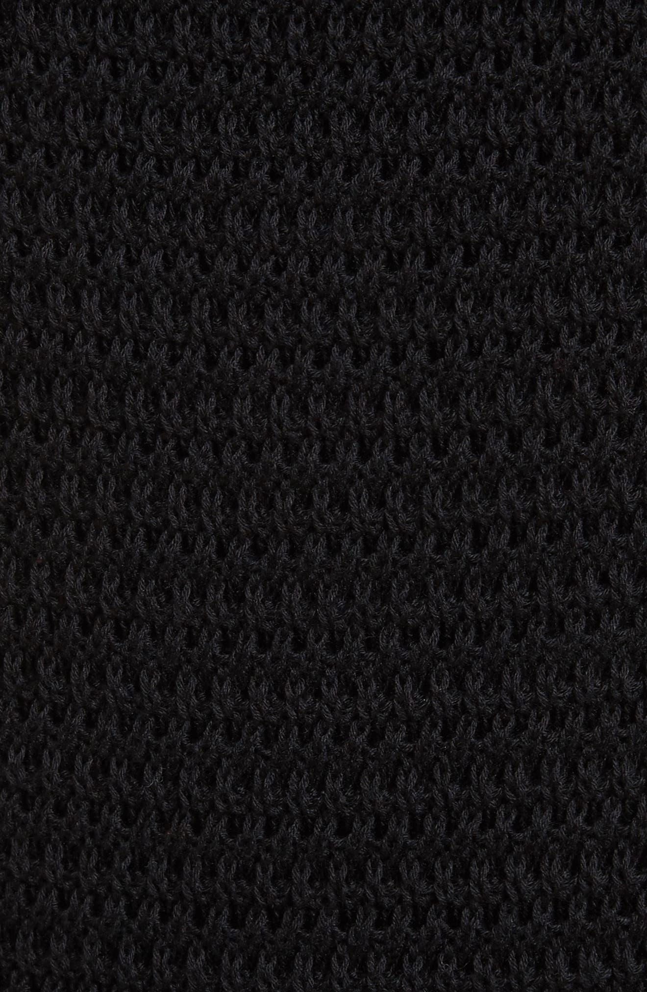 Ruffle Crochet Dress,                             Alternate thumbnail 5, color,                             001