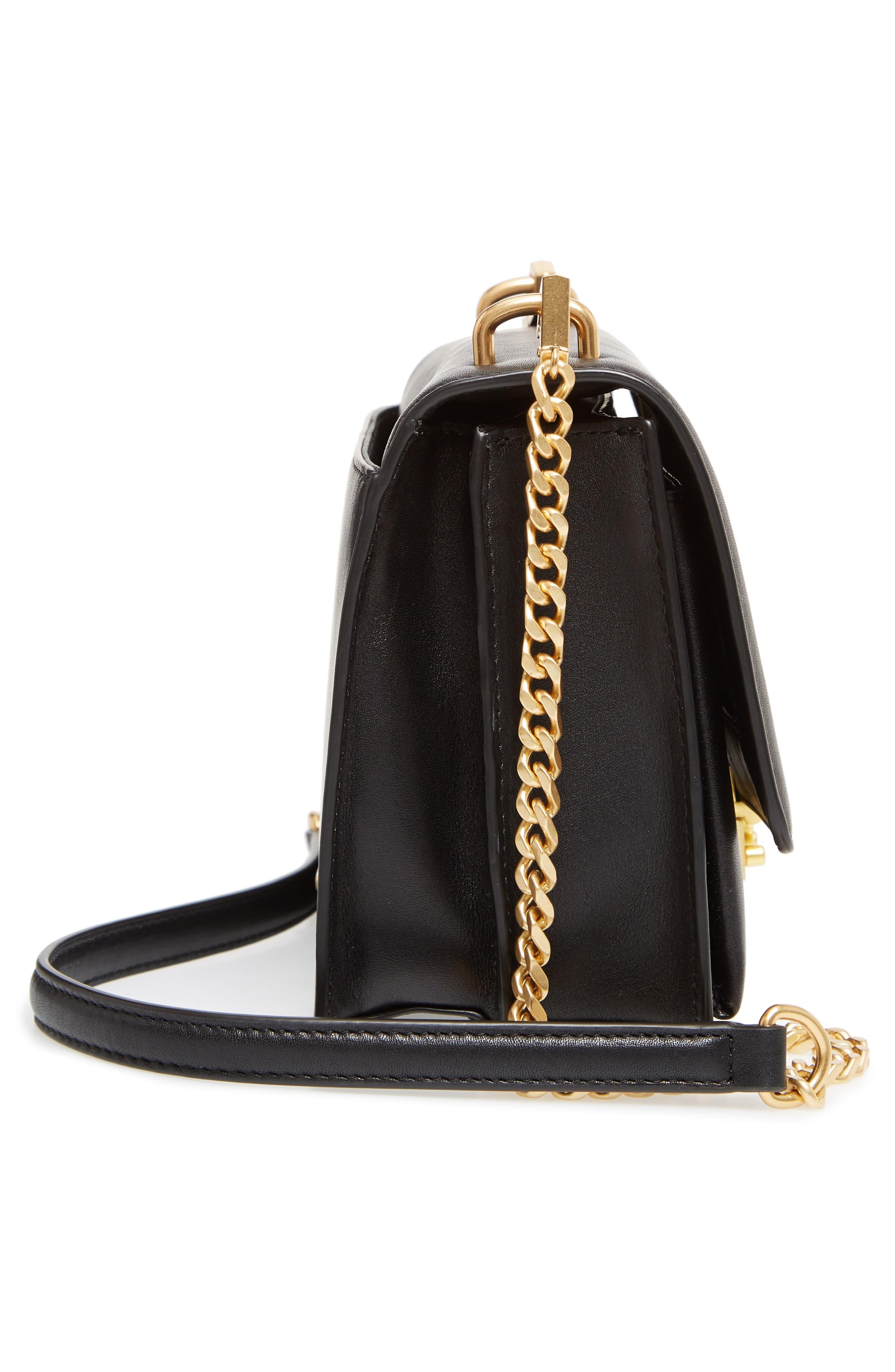Medium Christy Leather Shoulder Bag,                             Alternate thumbnail 5, color,                             001
