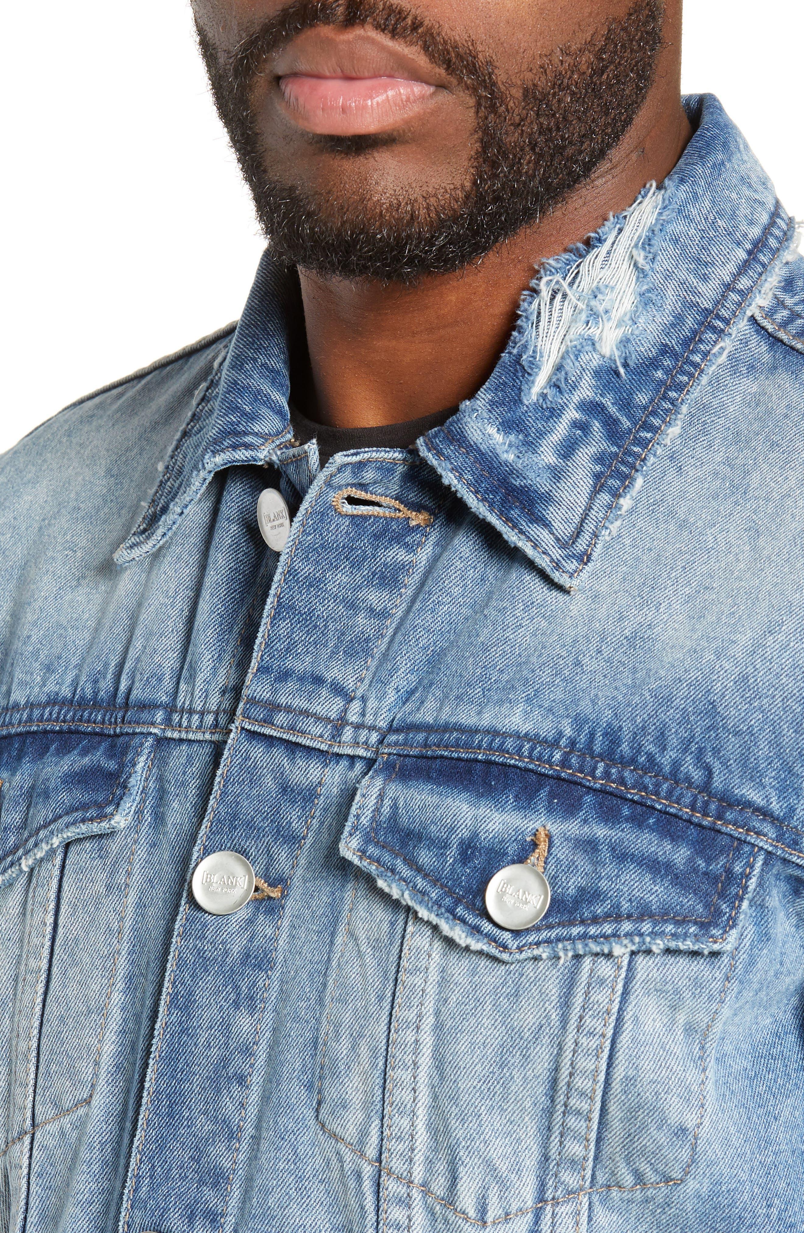 BLANKNYC,                             Denim Trucker Jacket,                             Alternate thumbnail 4, color,                             BRAIN CRAMP