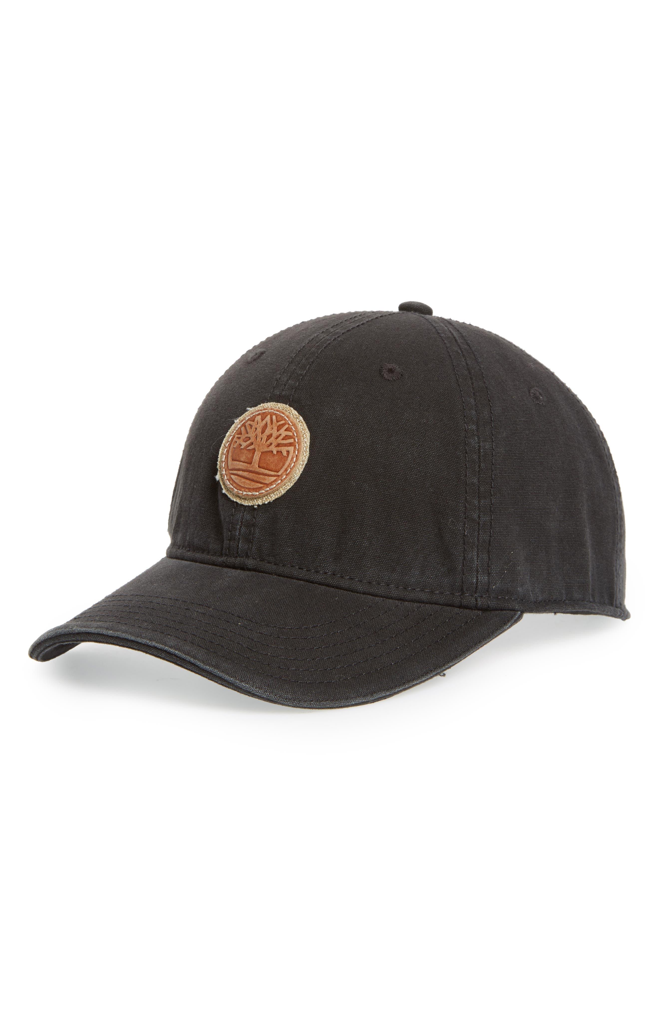 TIMBERLAND Rye Beach Logo Patch Ball Cap, Main, color, BLACK