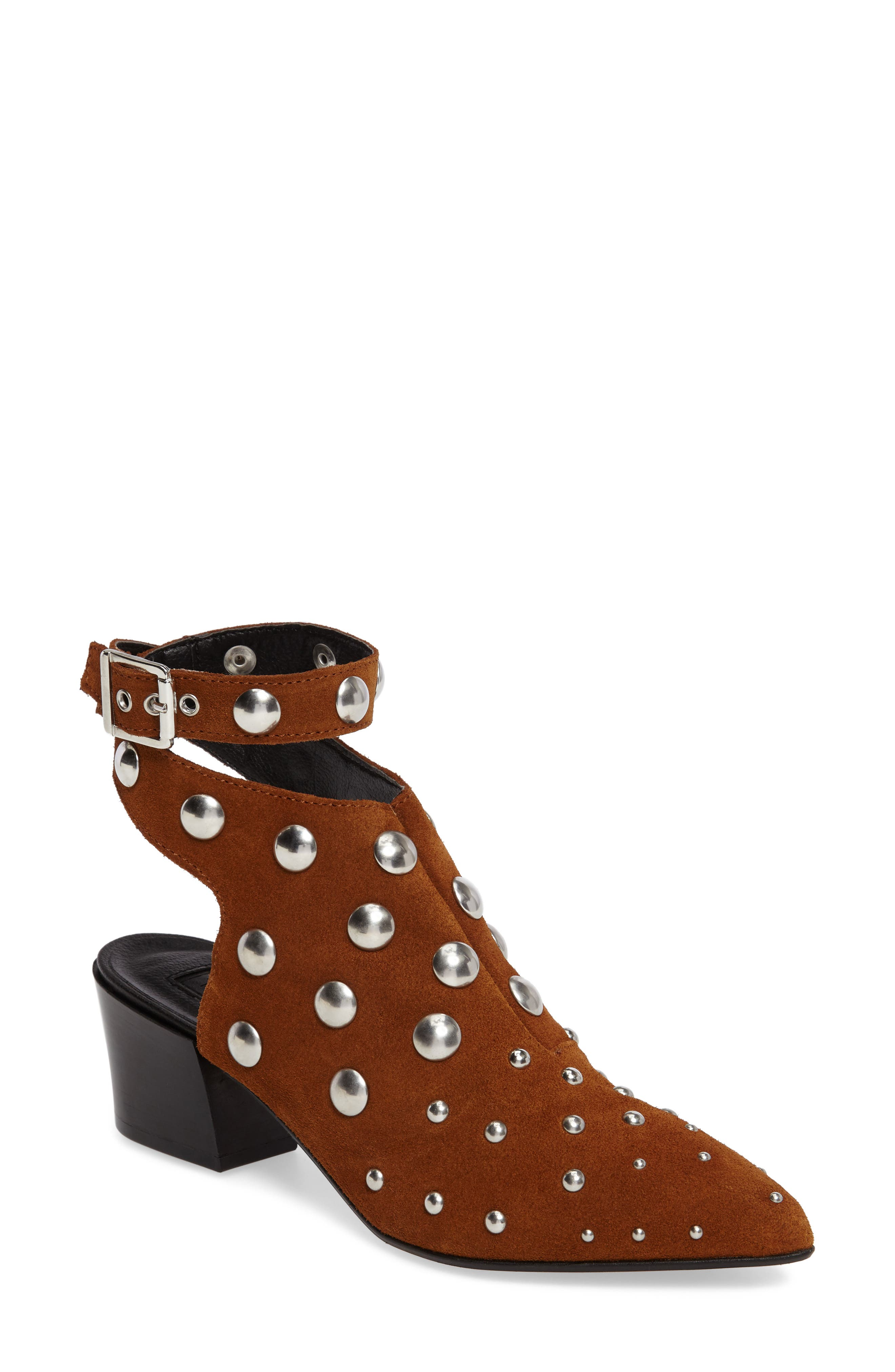 Madness Studded Wraparound Bootie,                             Main thumbnail 2, color,