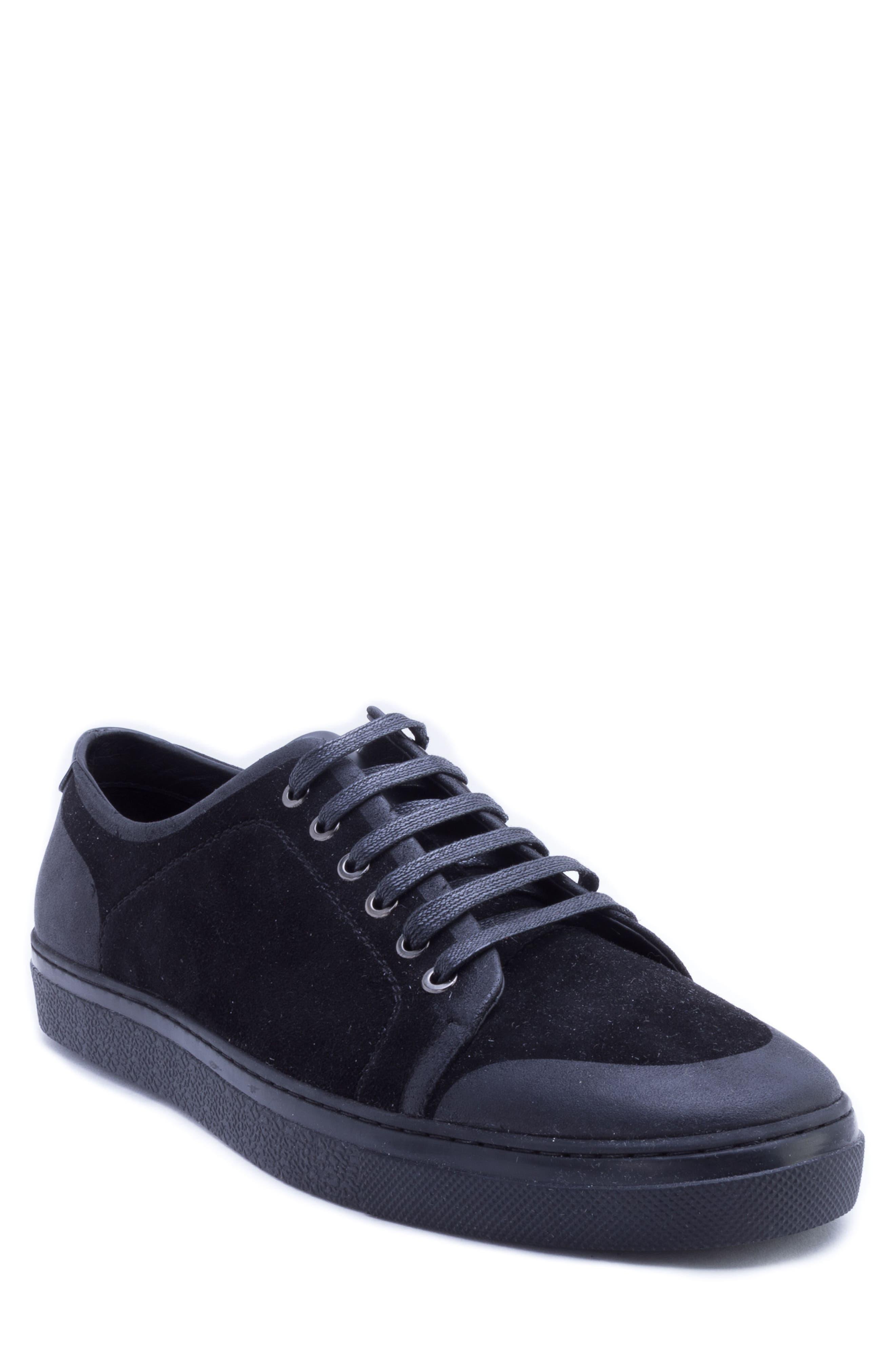 Garfield Sneaker,                         Main,                         color, BLACK LEATHER
