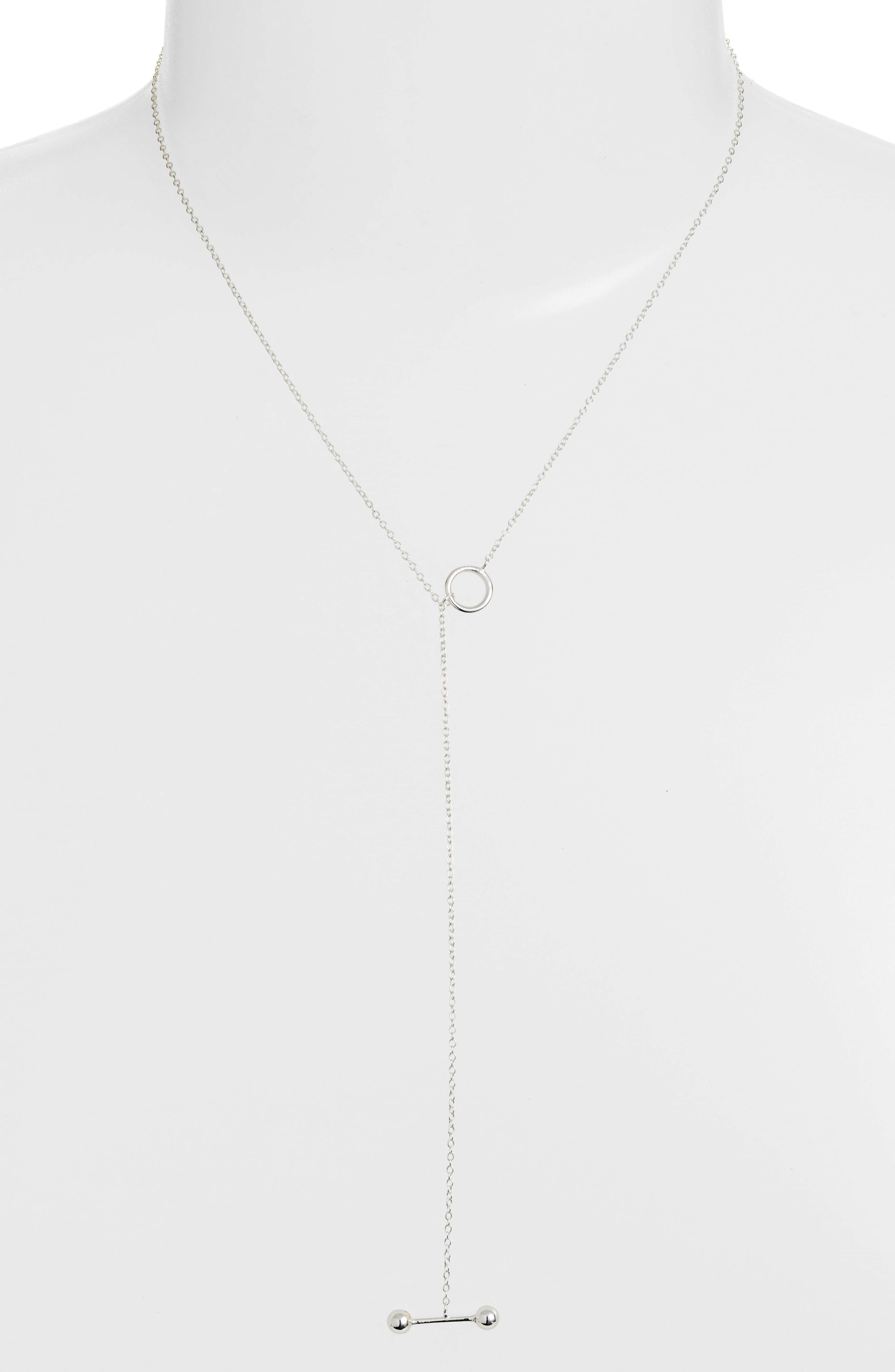 Sphere Bar Lariat Necklace,                         Main,                         color,