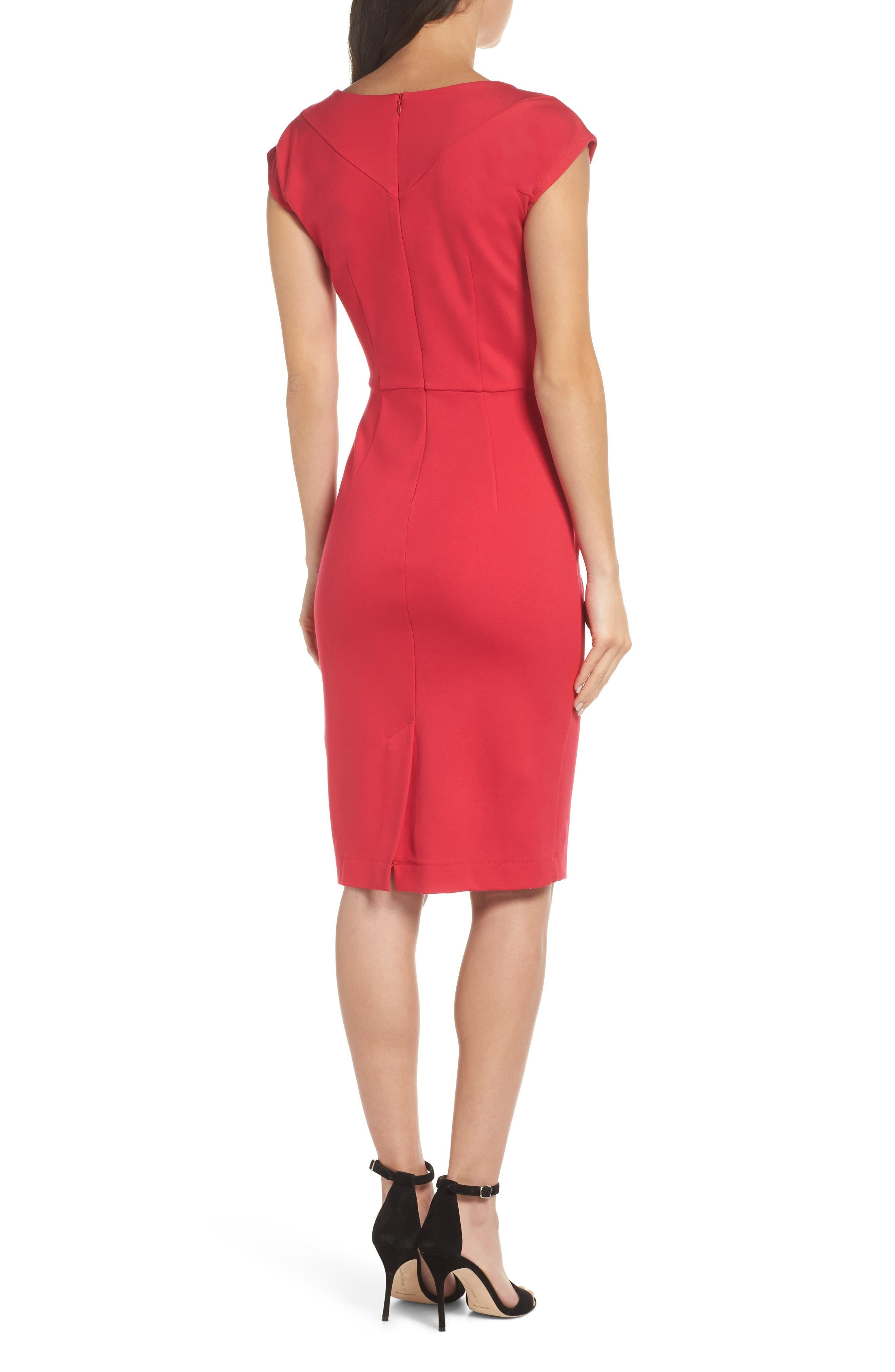 Lula Sheath Dress,                             Alternate thumbnail 2, color,                             WATERMELON