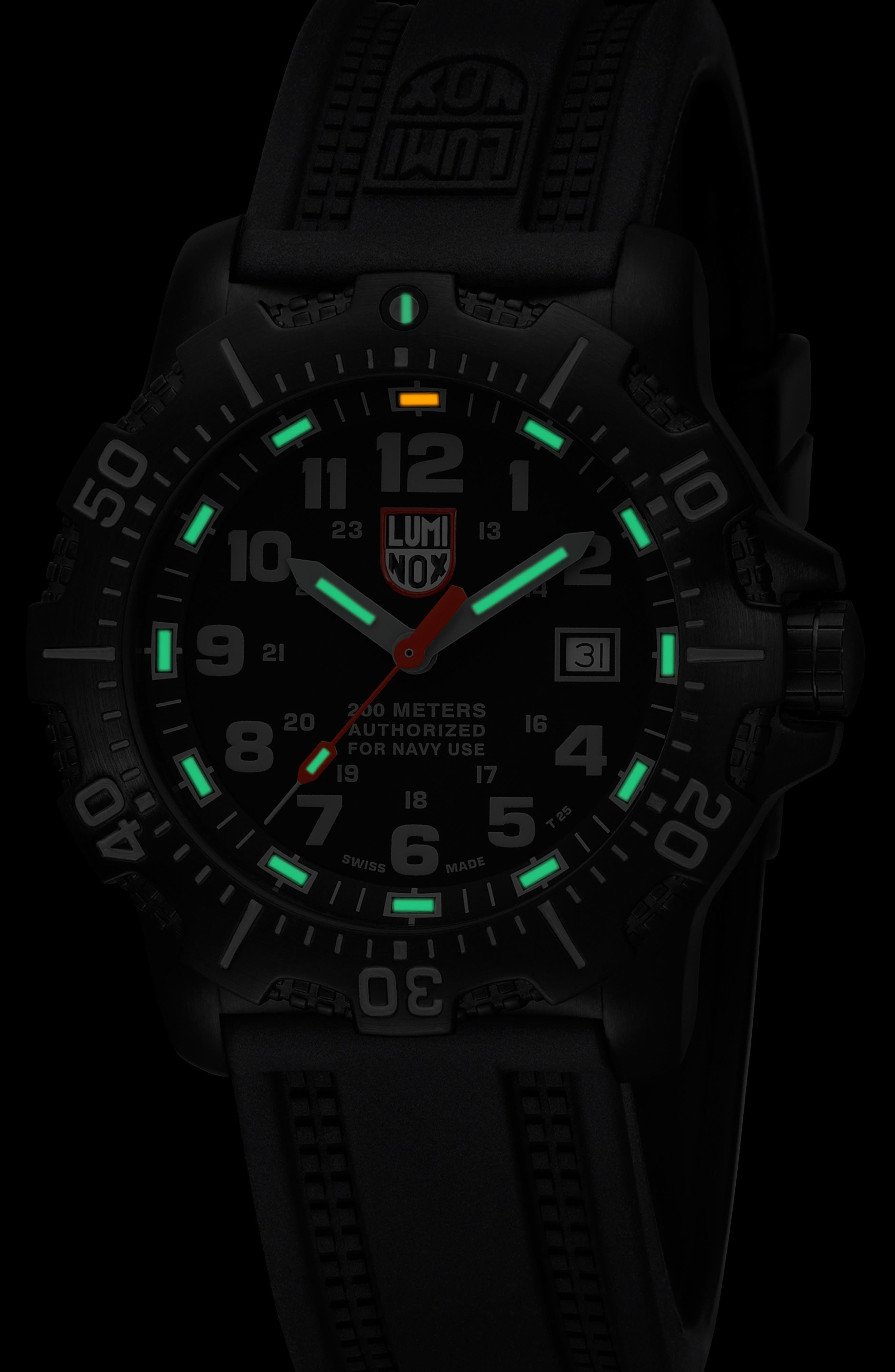'Sea - ANU' Polyurethane Strap Watch, 45mm,                             Alternate thumbnail 3, color,                             001