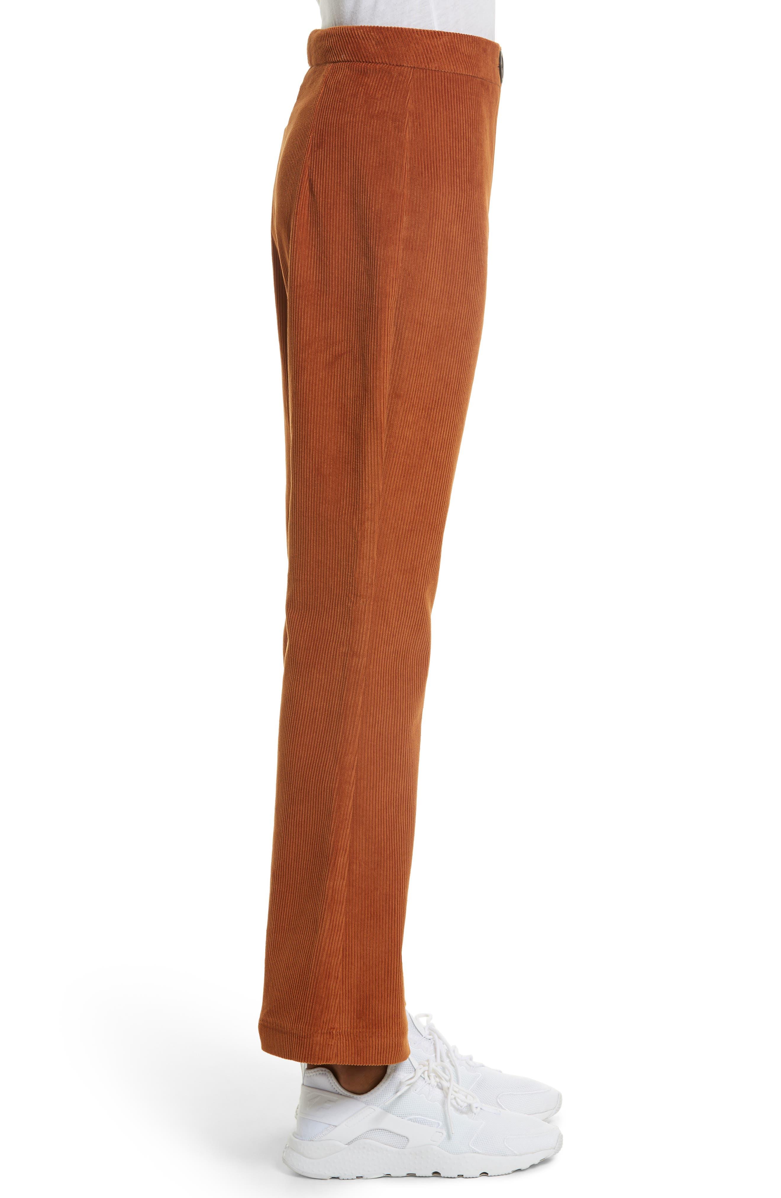 Crop Flare Corduroy Trousers,                             Alternate thumbnail 3, color,                             200
