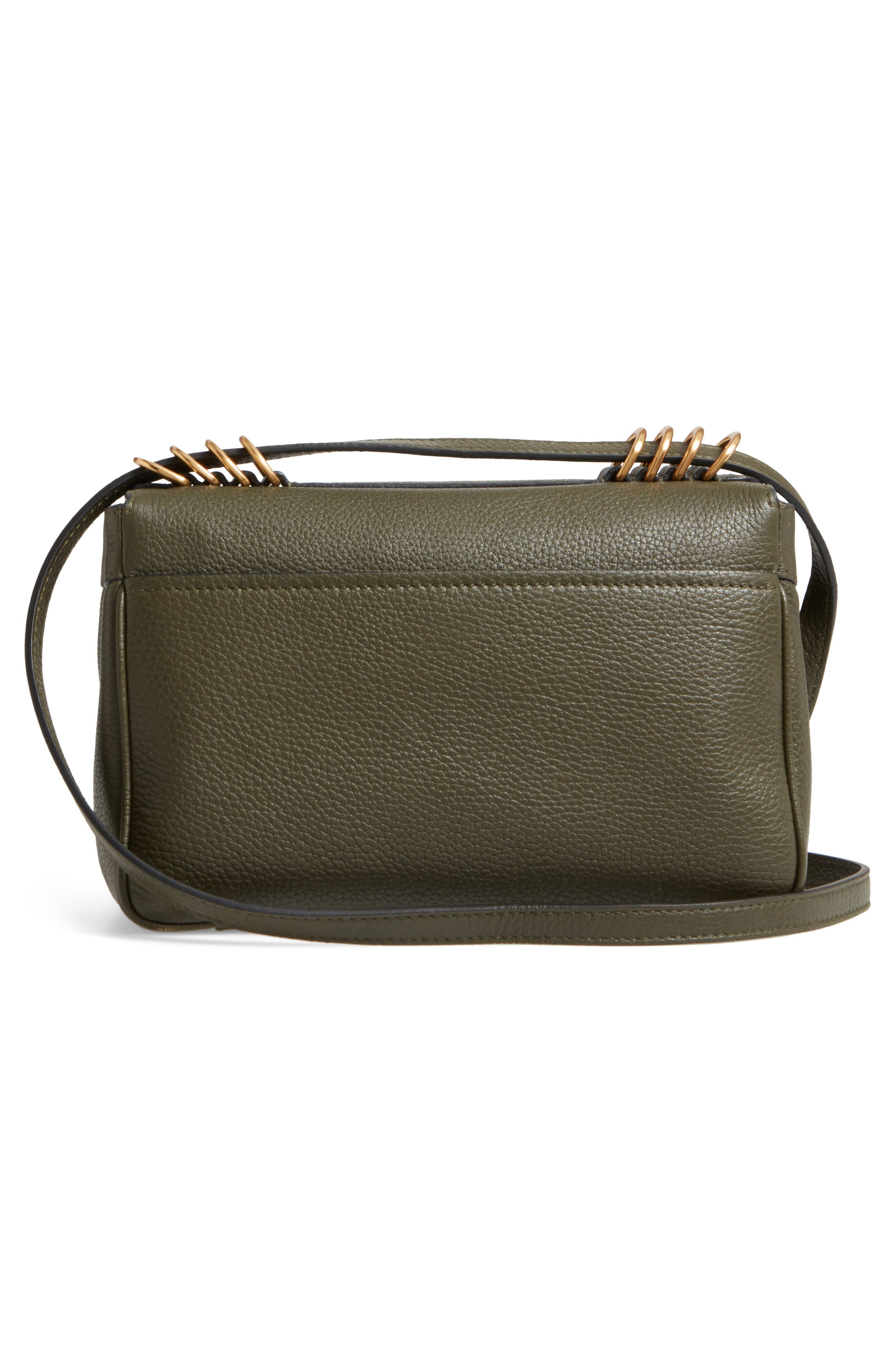 Grainy-B Leather Crossbody Bag,                             Alternate thumbnail 5, color,