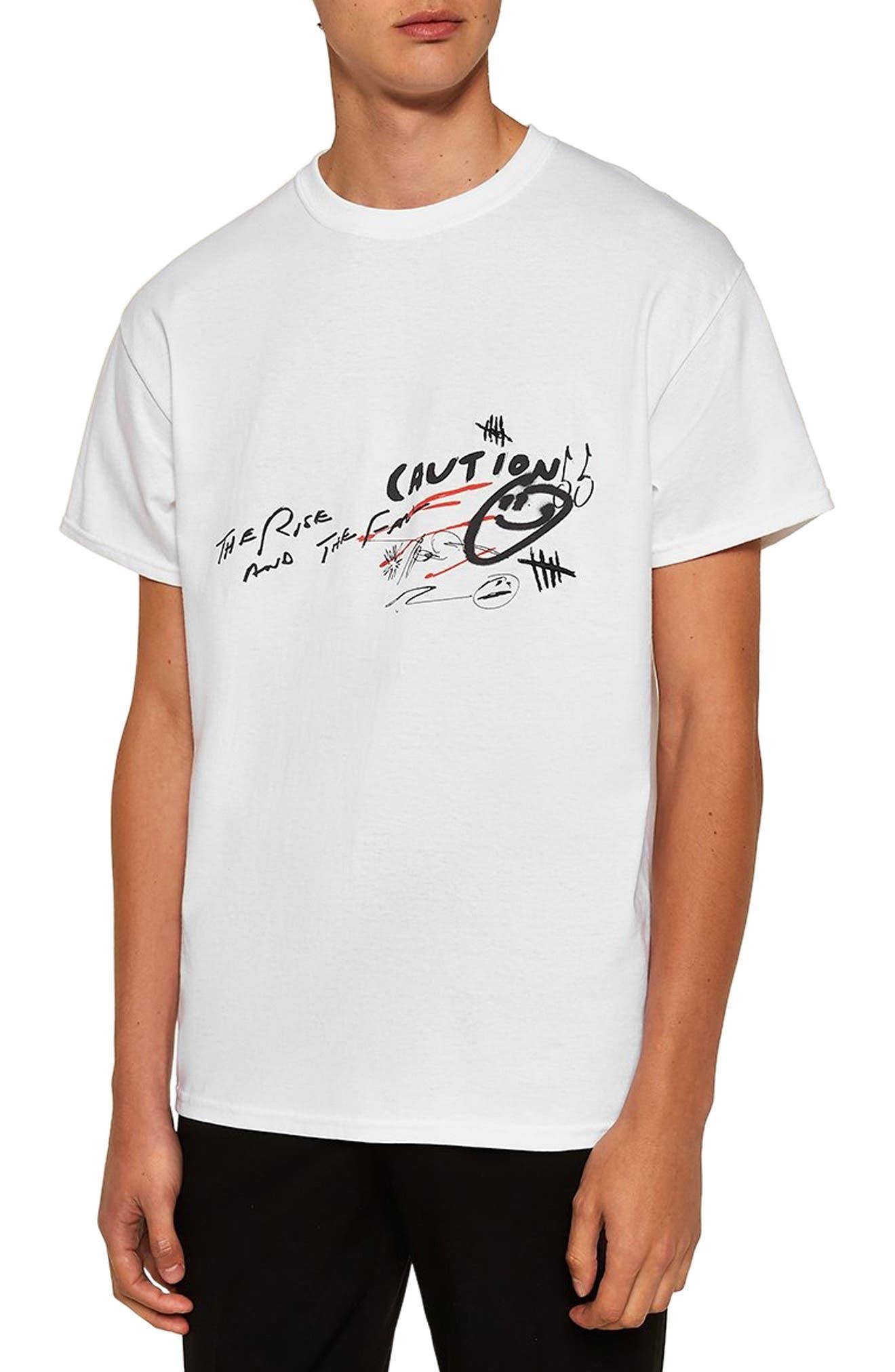 Doodle Graphic T-Shirt,                         Main,                         color, WHITE MULTI