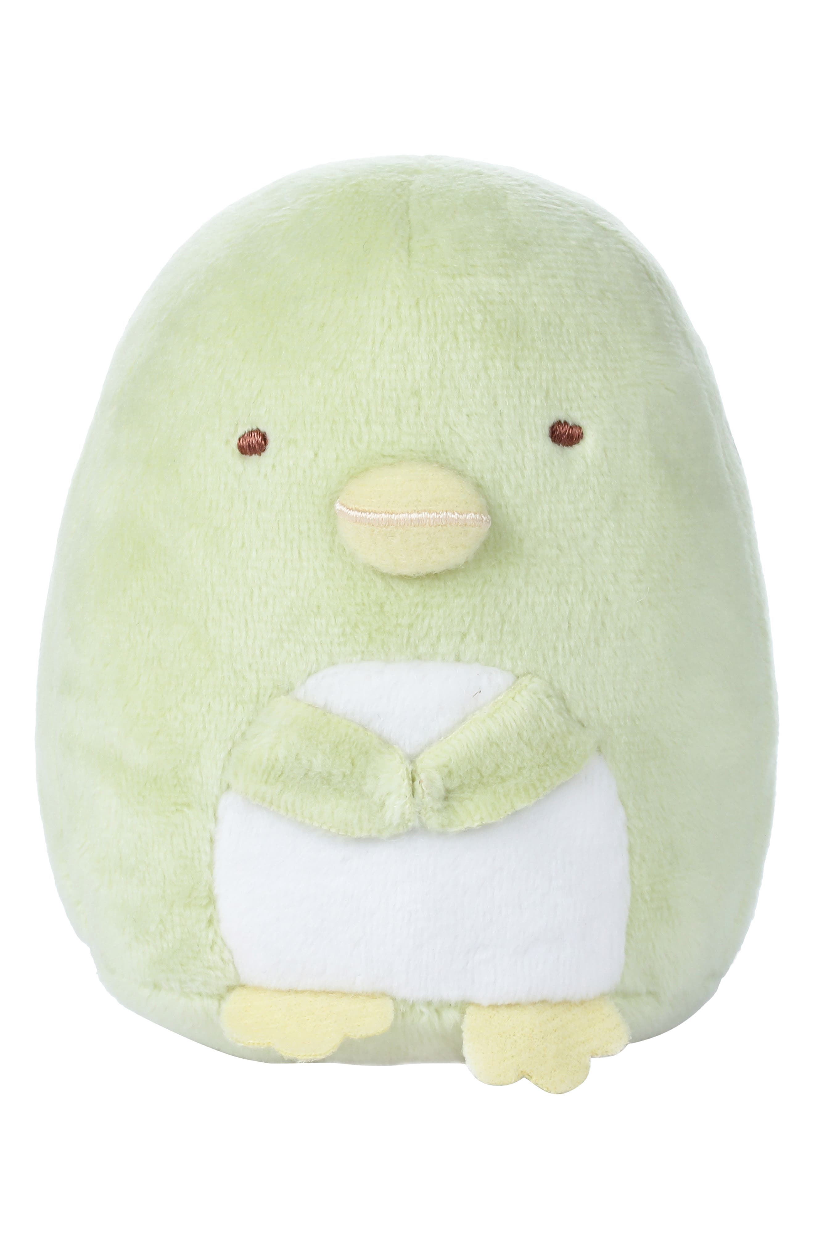 Rilakkuma Sumikko Gurashi Penguin Stuffed Animal,                         Main,                         color, GREEN