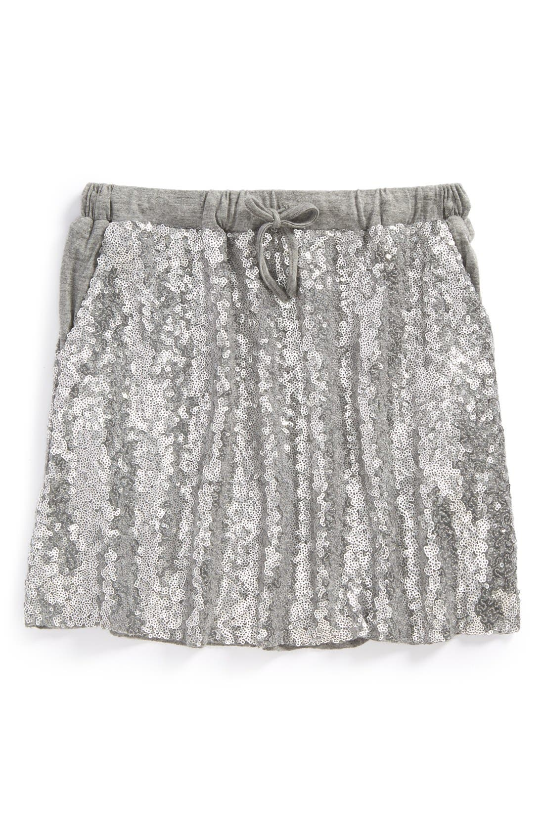 'New Zoe' Sequin Skirt,                             Main thumbnail 1, color,