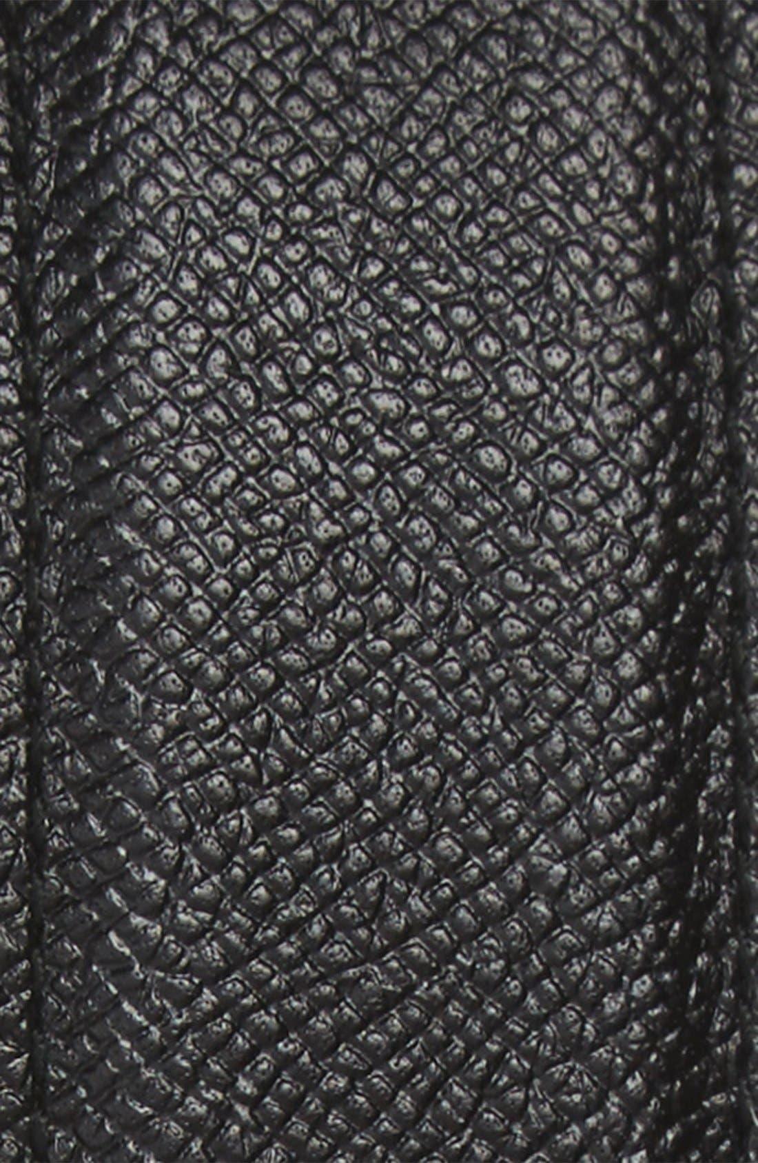 Reversible Double Gancini Calfskin Leather Belt,                             Alternate thumbnail 2, color,