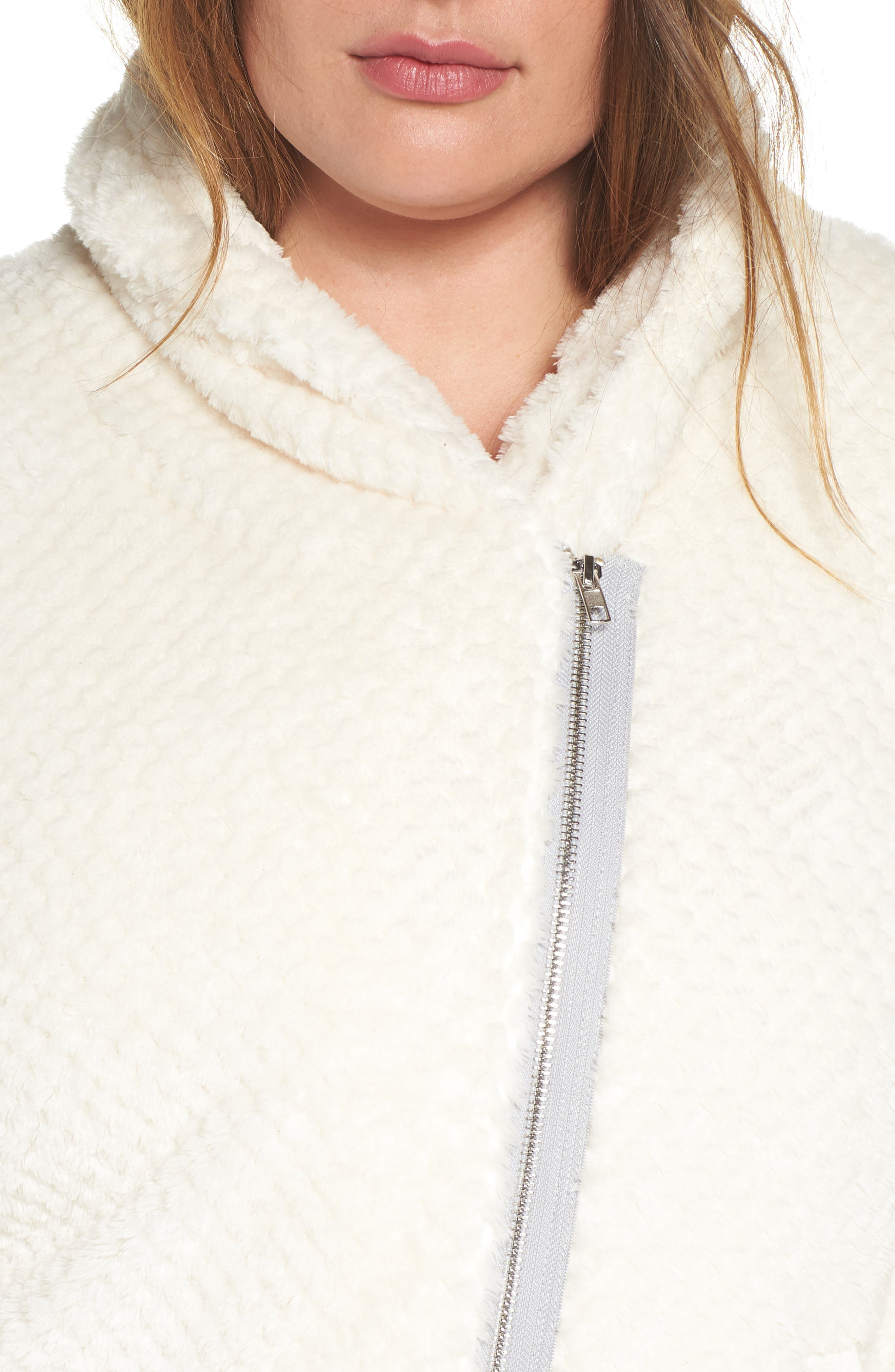 ZELLA,                             Diamond Fleece Jacket,                             Alternate thumbnail 8, color,                             IVORY CLOUD