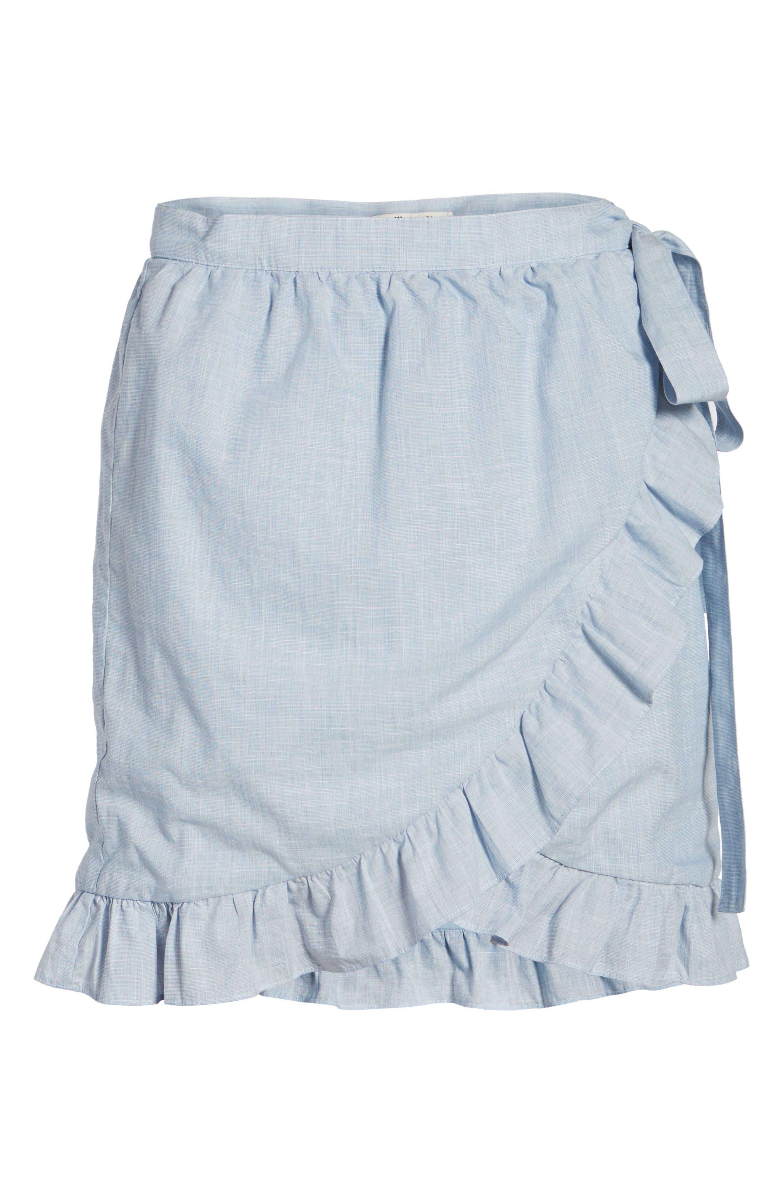 Meadow Wrap Skirt,                             Alternate thumbnail 6, color,                             400