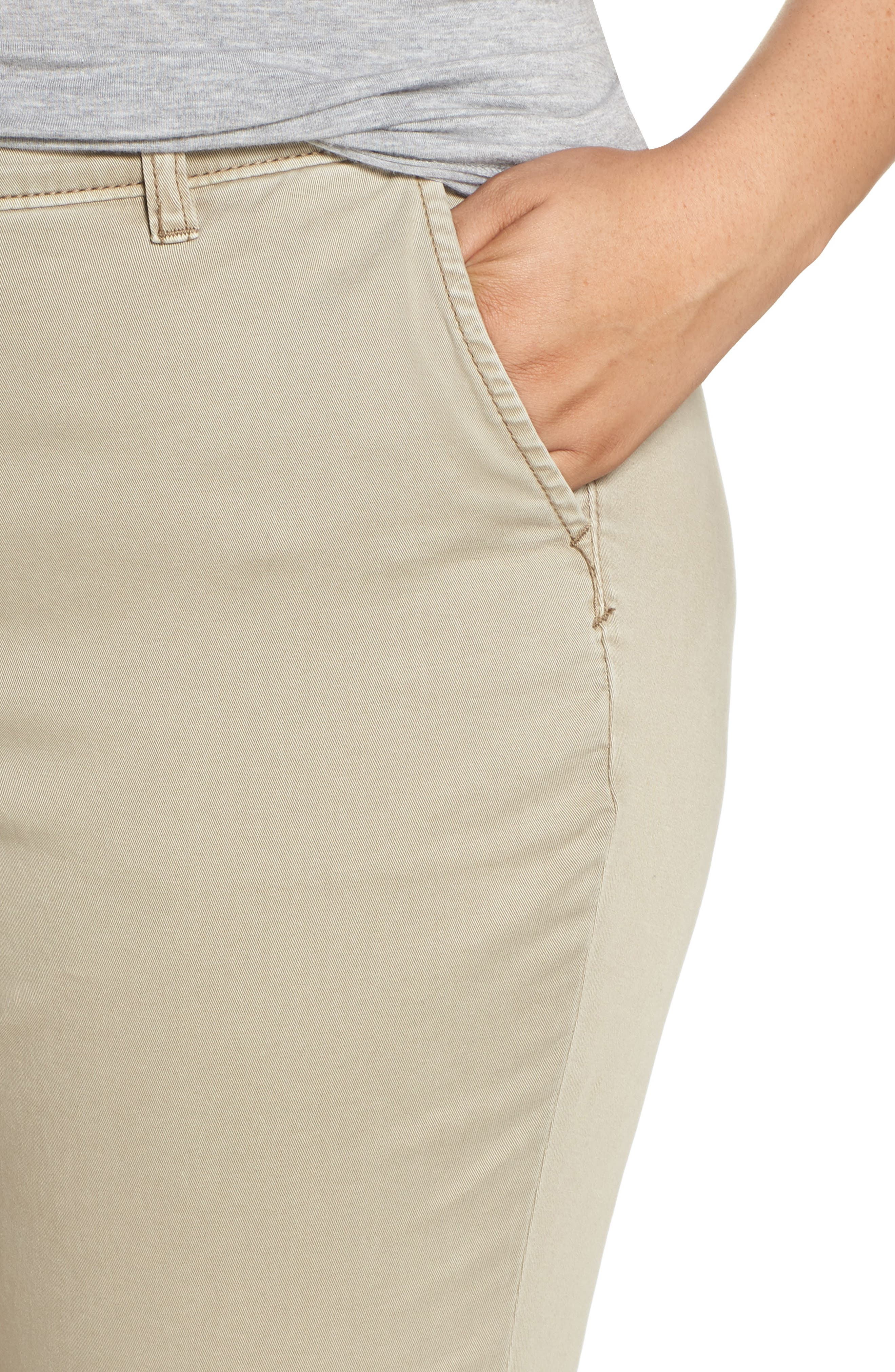 CASLON<SUP>®</SUP>,                             Boyfriend Stretch Cotton Chino Pants,                             Alternate thumbnail 4, color,                             TAN COBBLESTONE