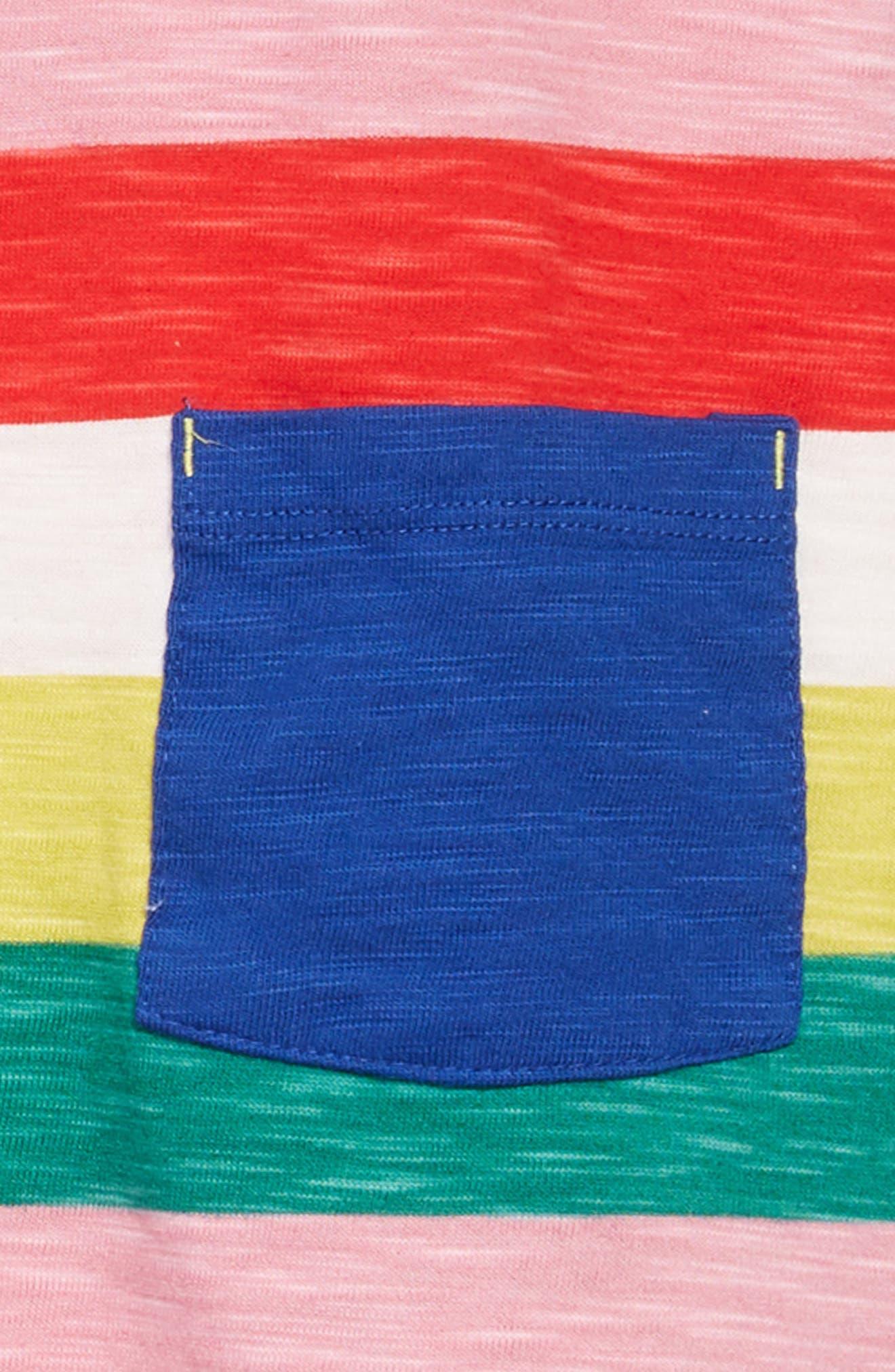 Stripy Jersey Dress,                             Alternate thumbnail 3, color,                             650