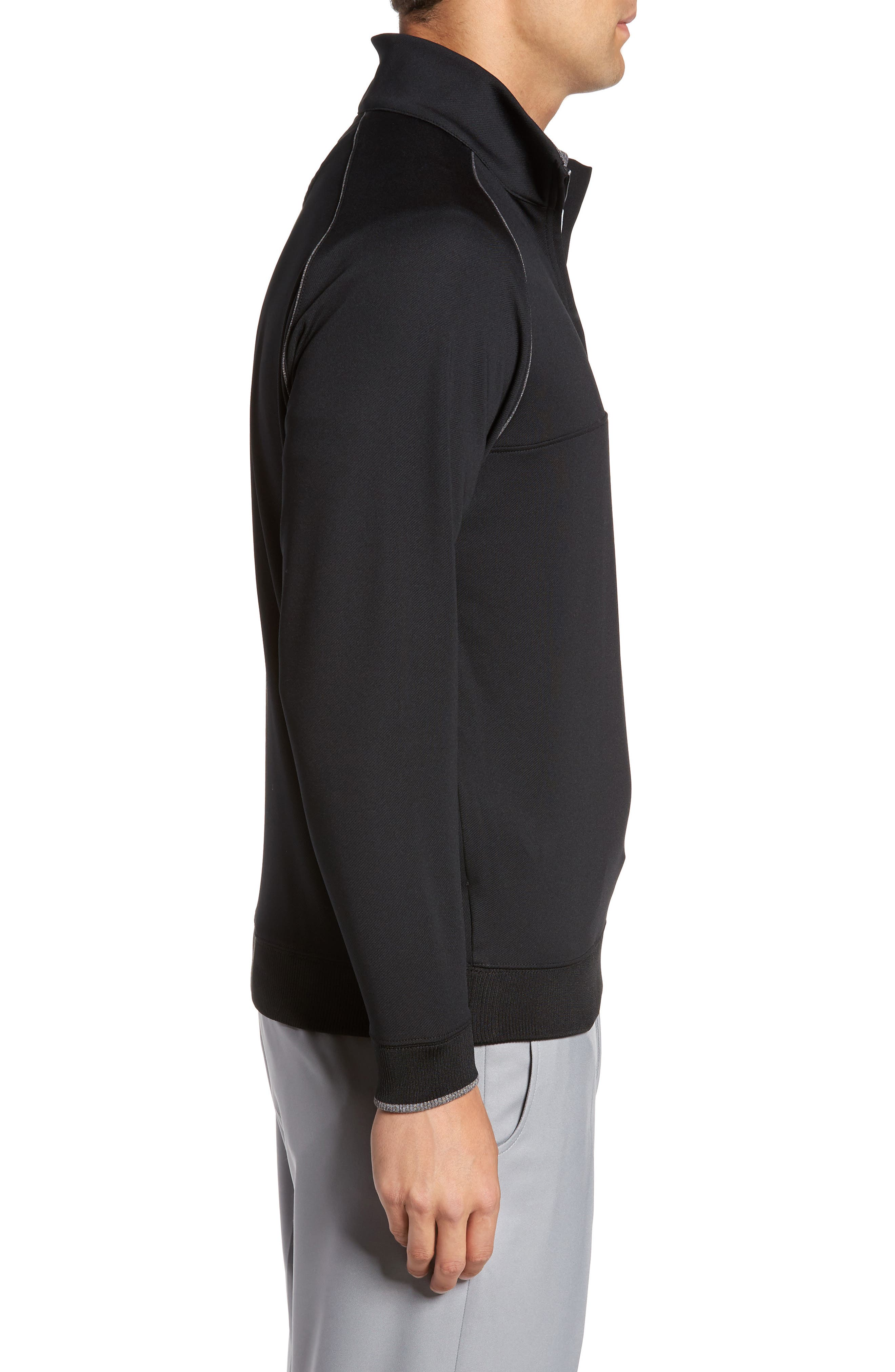 XH20 Banded Bottom Pullover,                             Alternate thumbnail 3, color,                             001