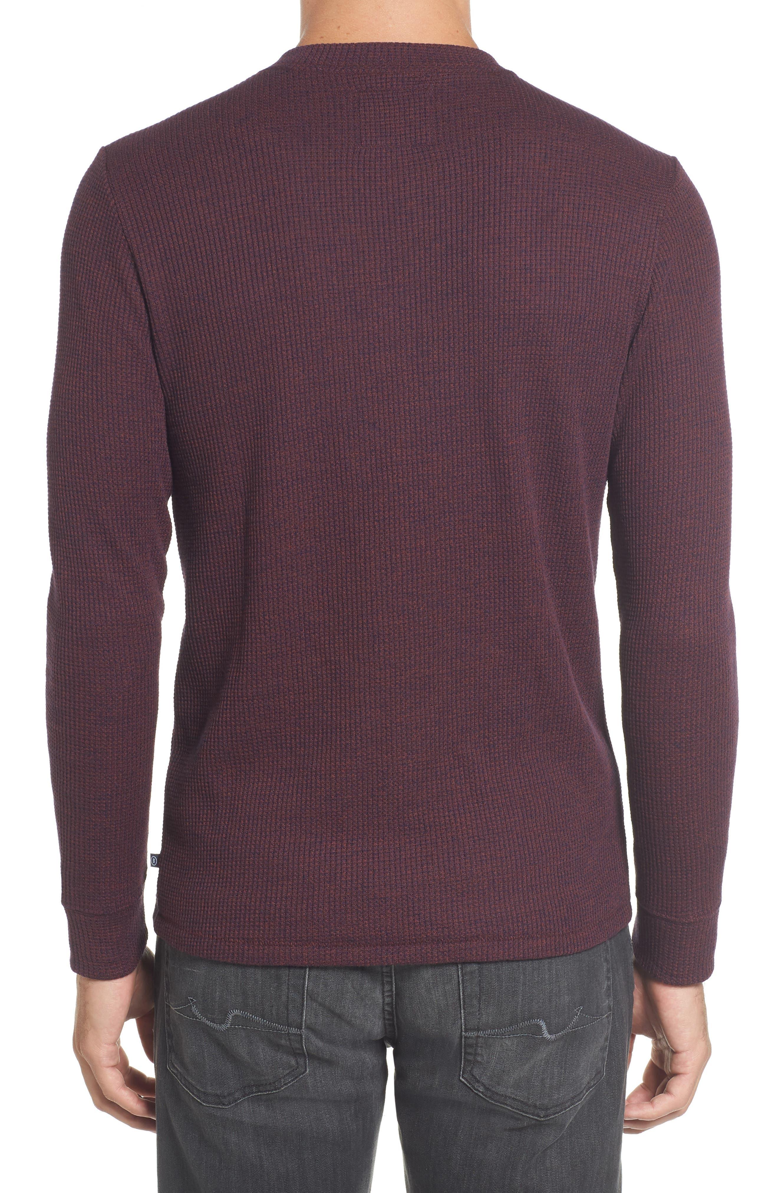 Slim Fit Long Sleeve Henley Shirt,                             Alternate thumbnail 6, color,