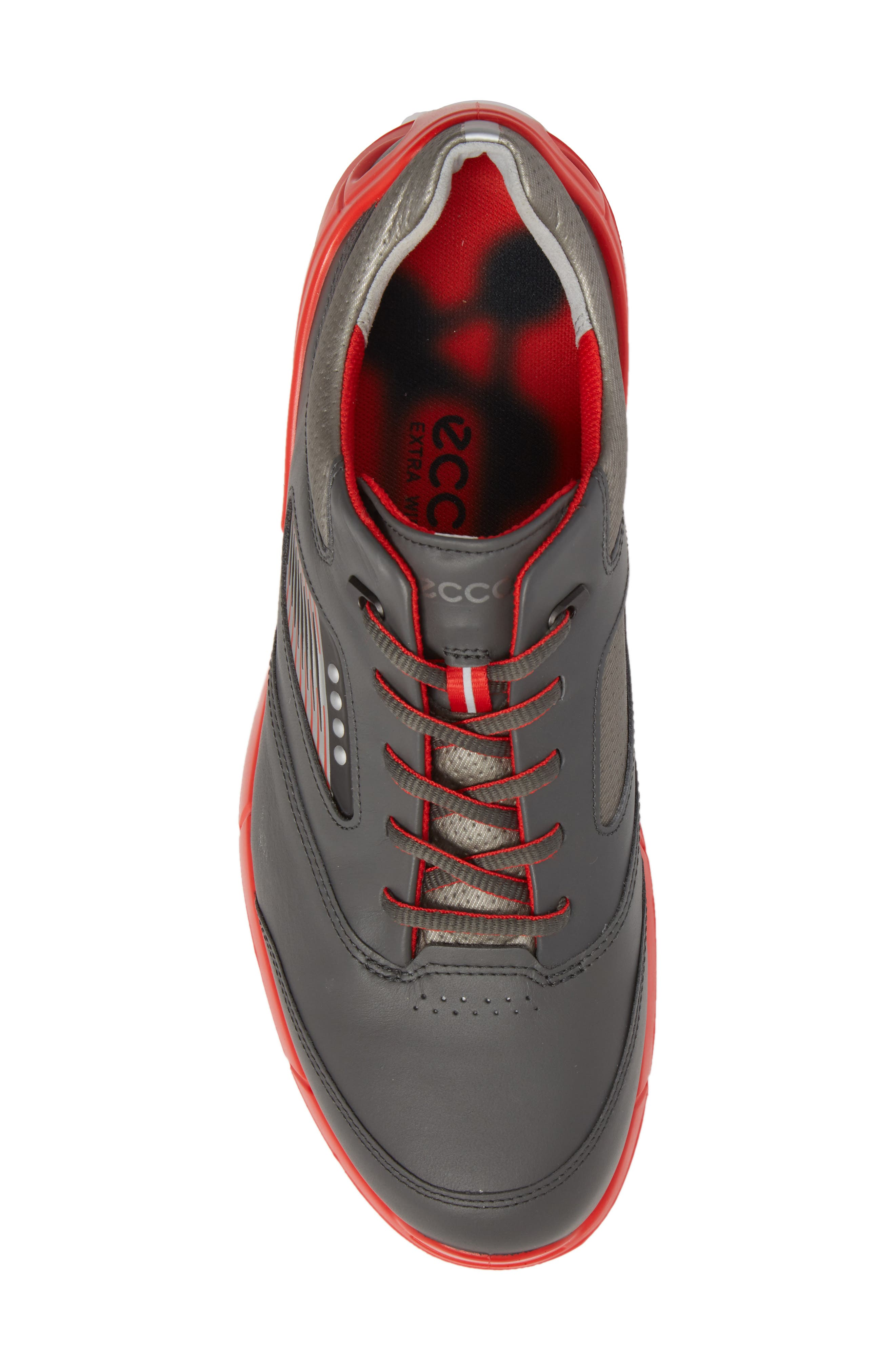 Base One Golf Shoe,                             Alternate thumbnail 5, color,                             BLACK/ SCARLET LEATHER