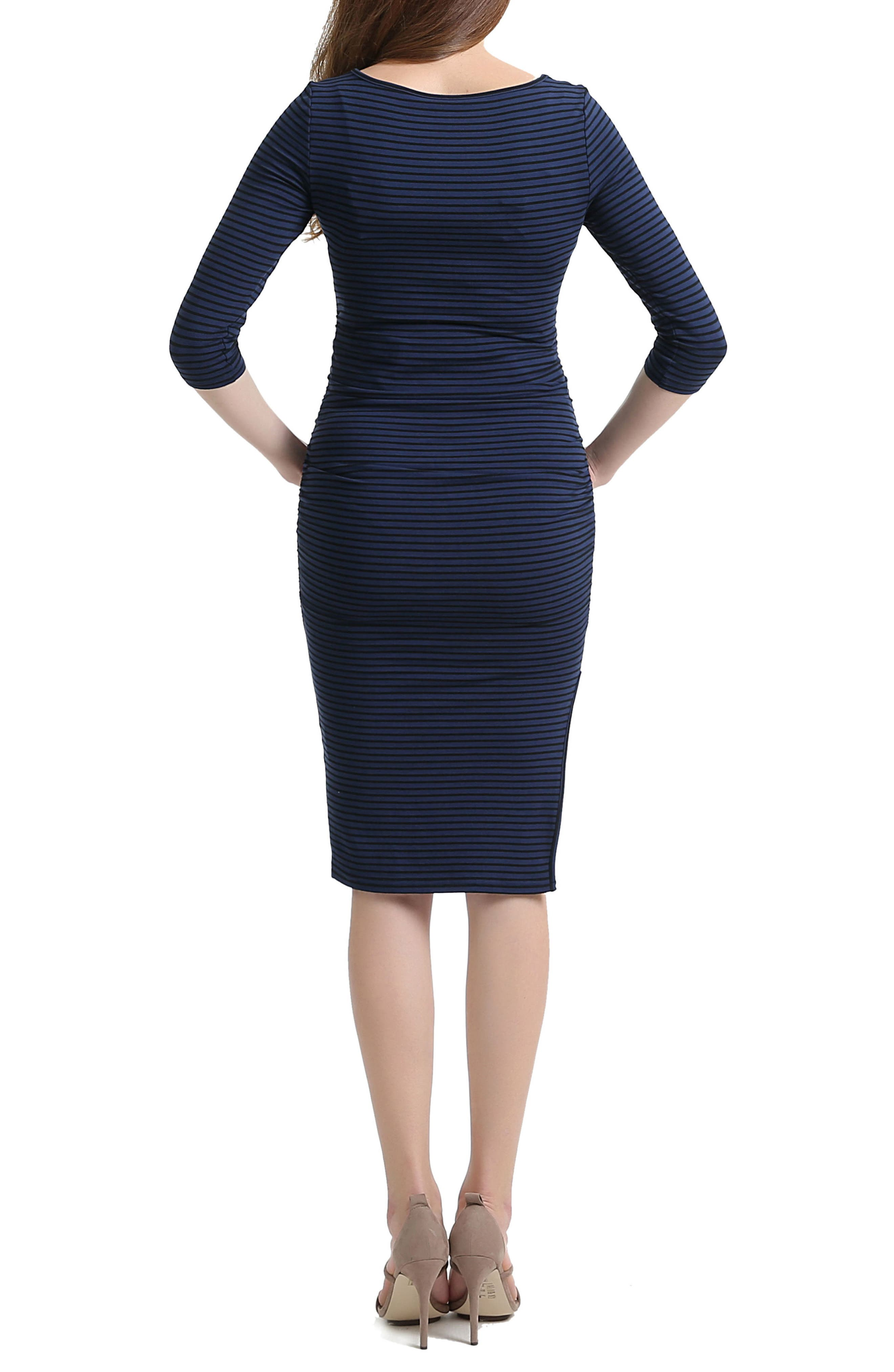Nora Stripe Maternity Dress,                             Alternate thumbnail 2, color,                             400