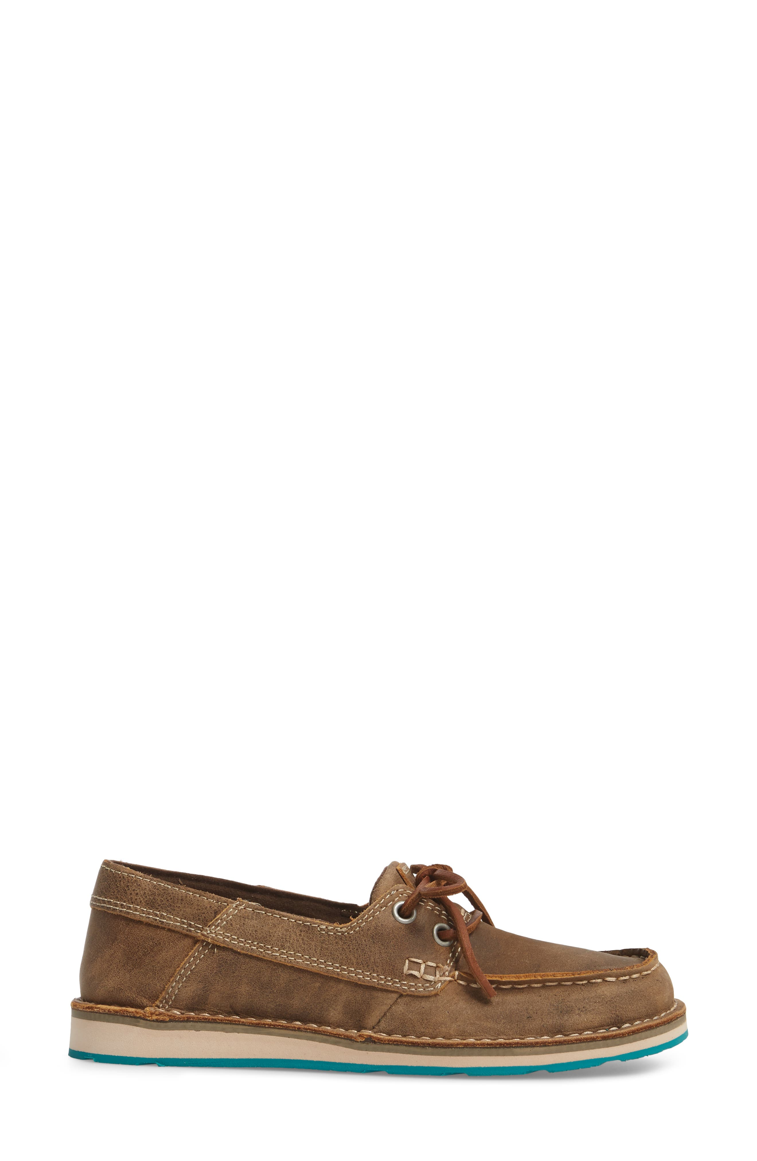 ARIAT,                             Cruiser Castaway Loafer,                             Alternate thumbnail 3, color,                             BROWN BOMBER LEATHER