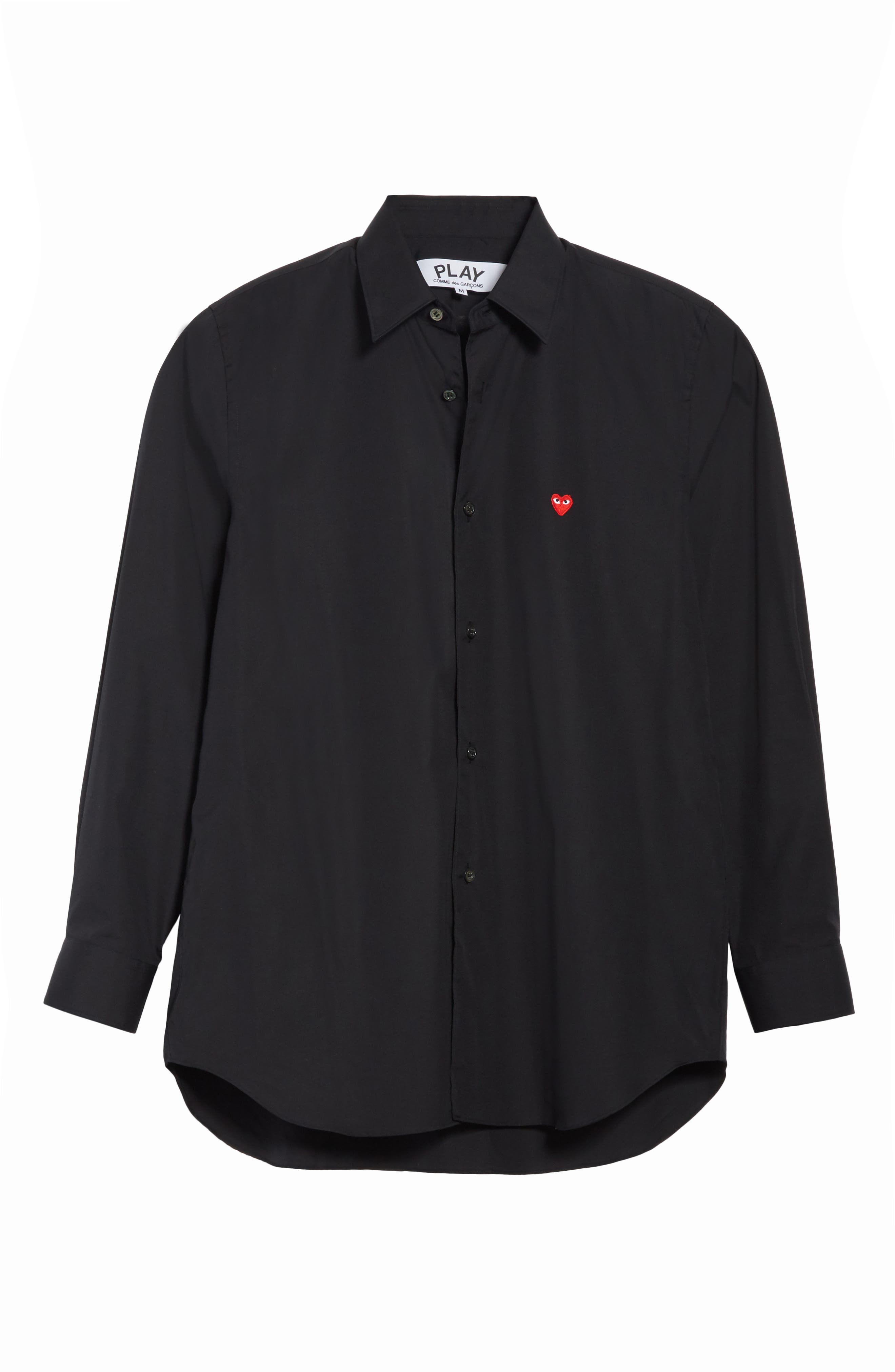 Trim Fit Oxford Shirt,                             Alternate thumbnail 6, color,                             BLACK