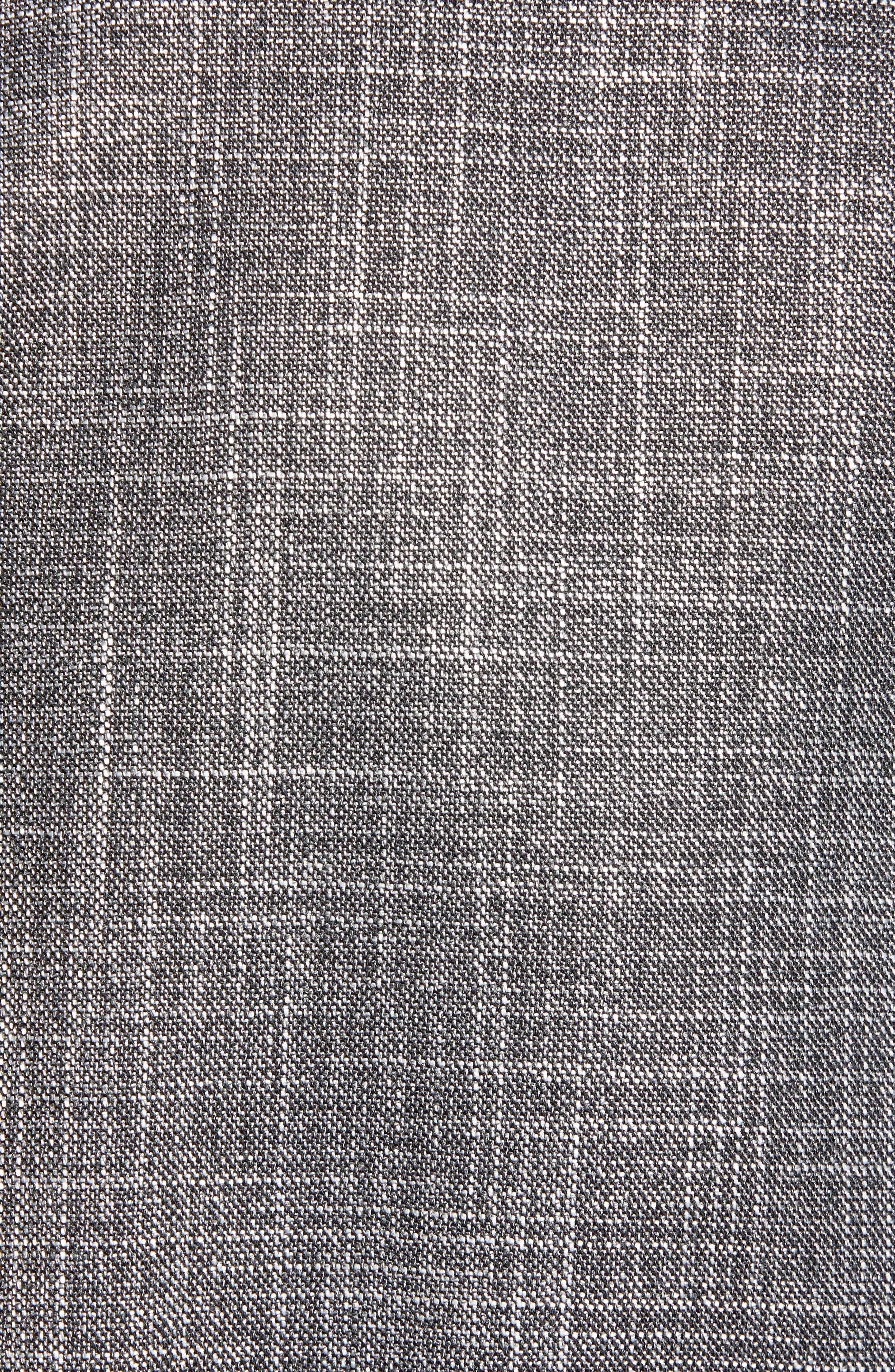 Hutson/Gander Trim Fit Solid Wool Blend Suit,                             Alternate thumbnail 7, color,                             MEDIUM GREY