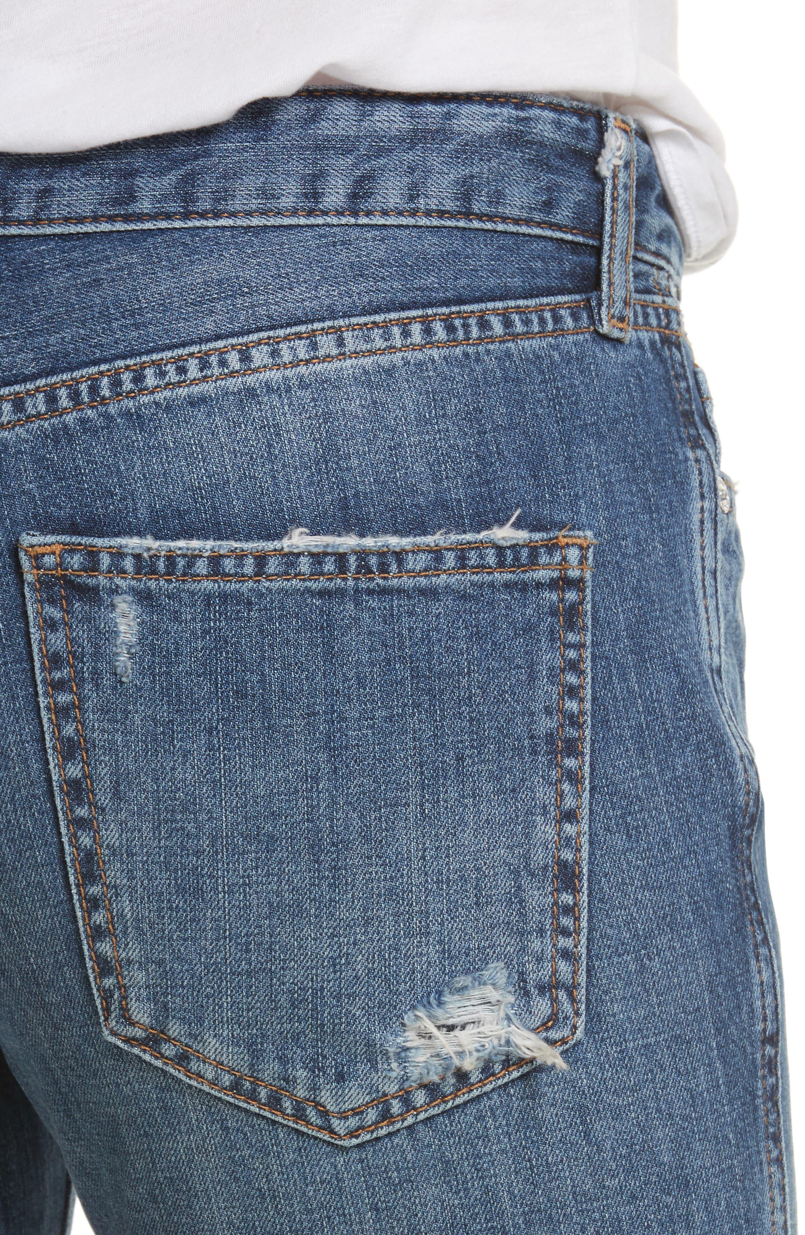 Slim Boyfriend Jeans,                             Alternate thumbnail 4, color,                             400