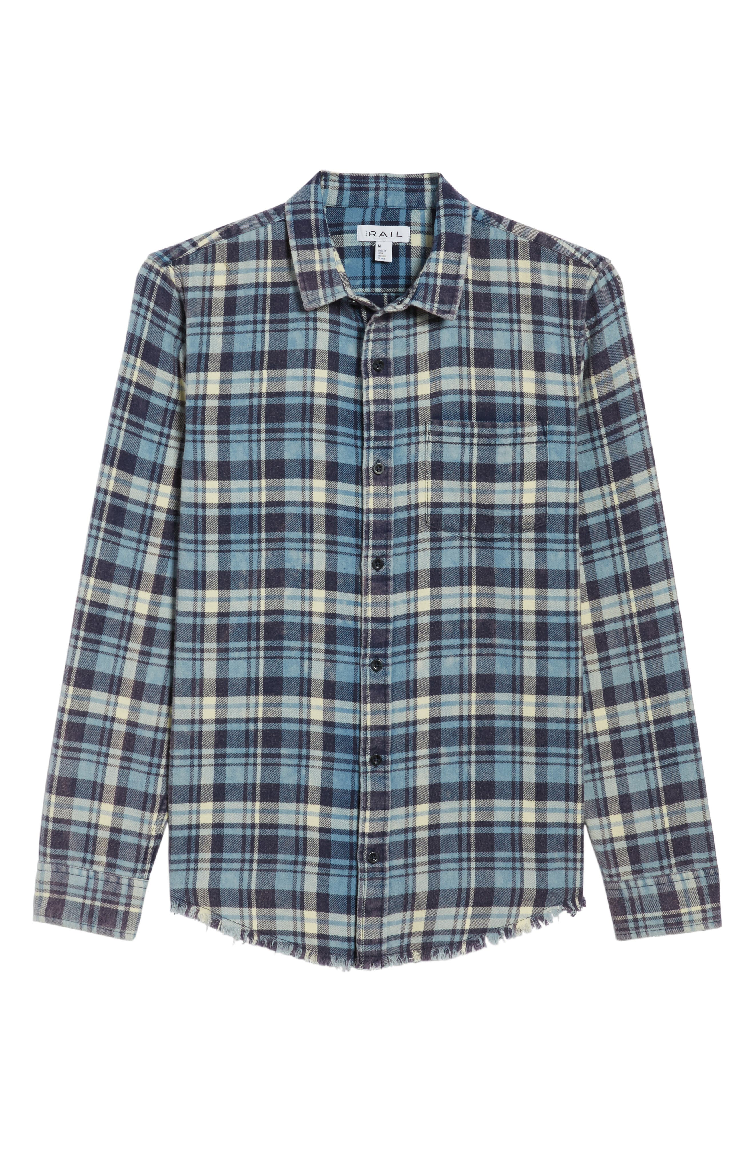 Plaid Flannel Shirt,                             Alternate thumbnail 6, color,                             420