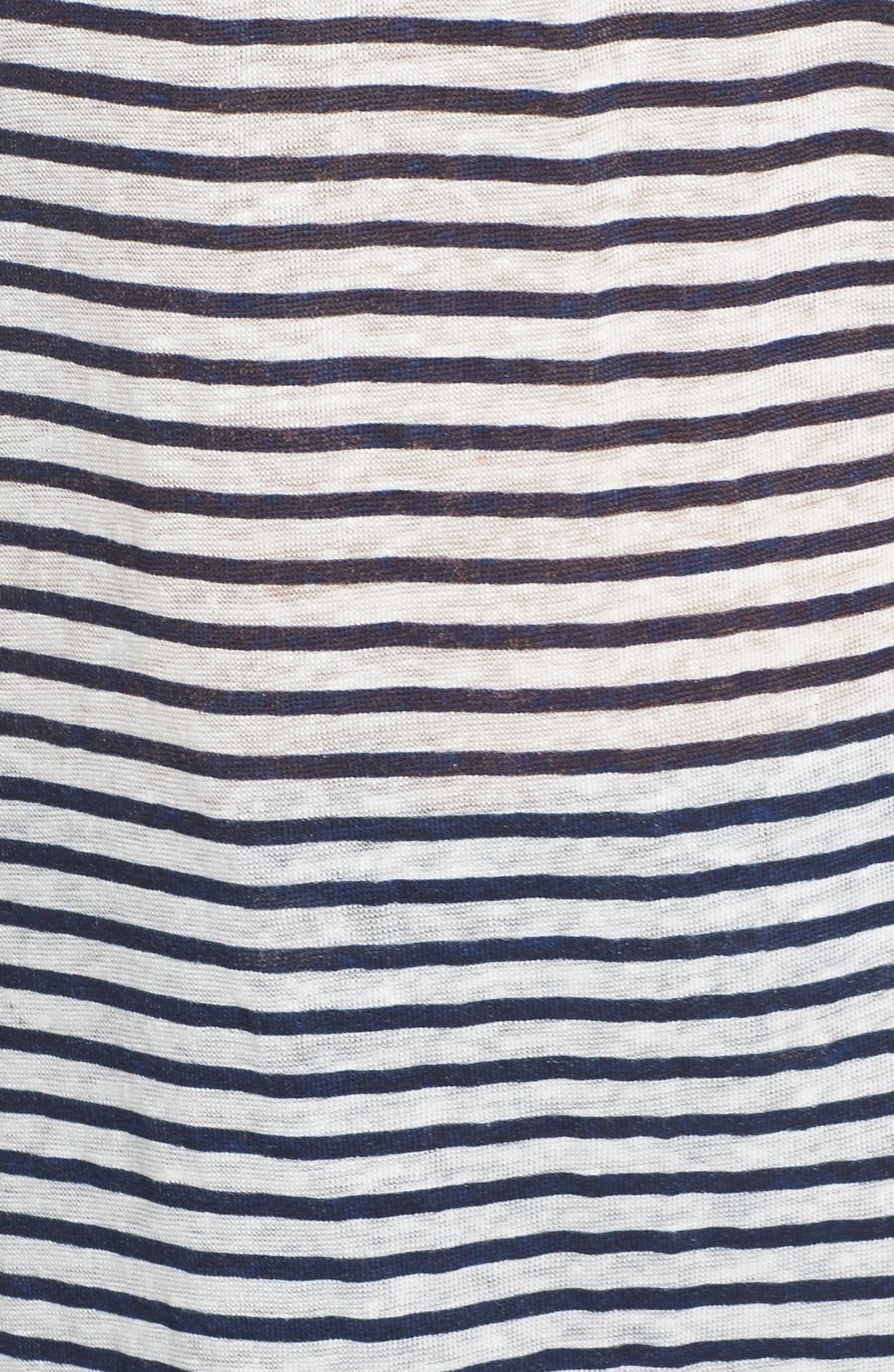 Off the Shoulder Paisley Stripe Top,                             Alternate thumbnail 5, color,