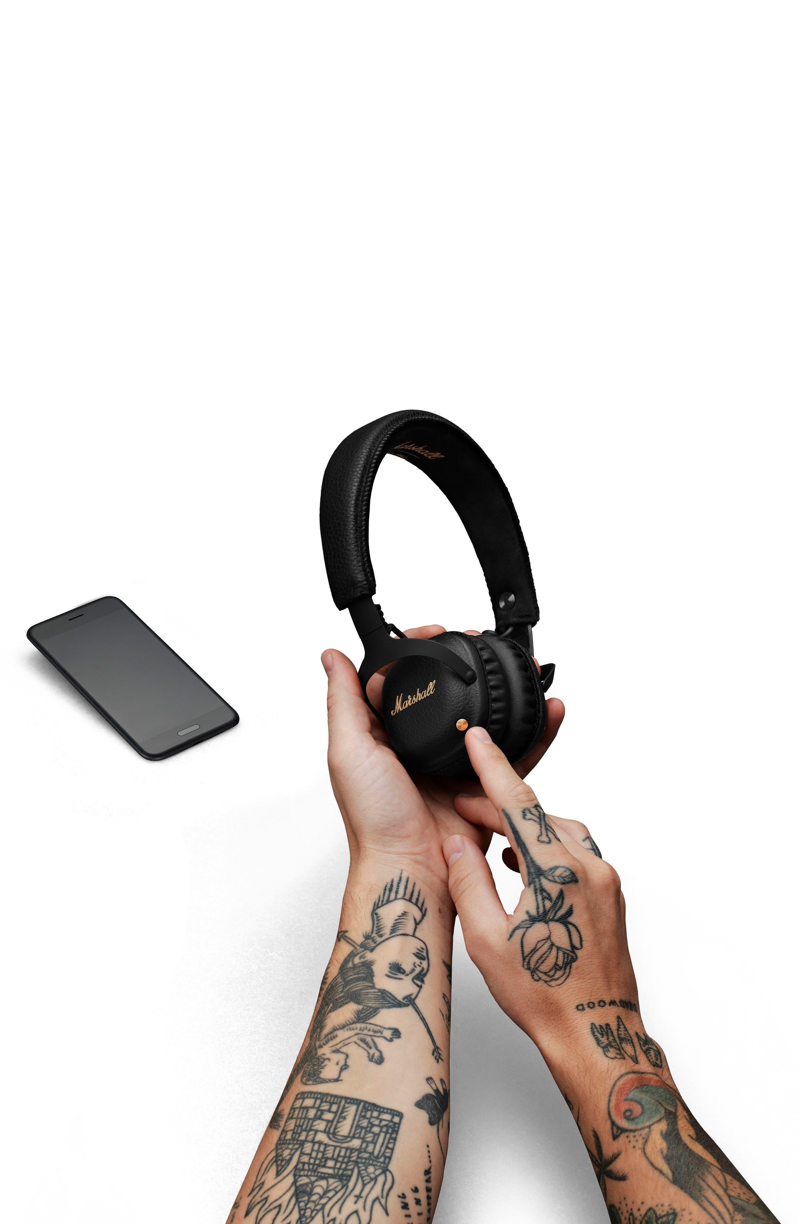 MID ANC Bluetooth<sup>®</sup> On-Ear Headphones,                             Alternate thumbnail 10, color,                             BLACK