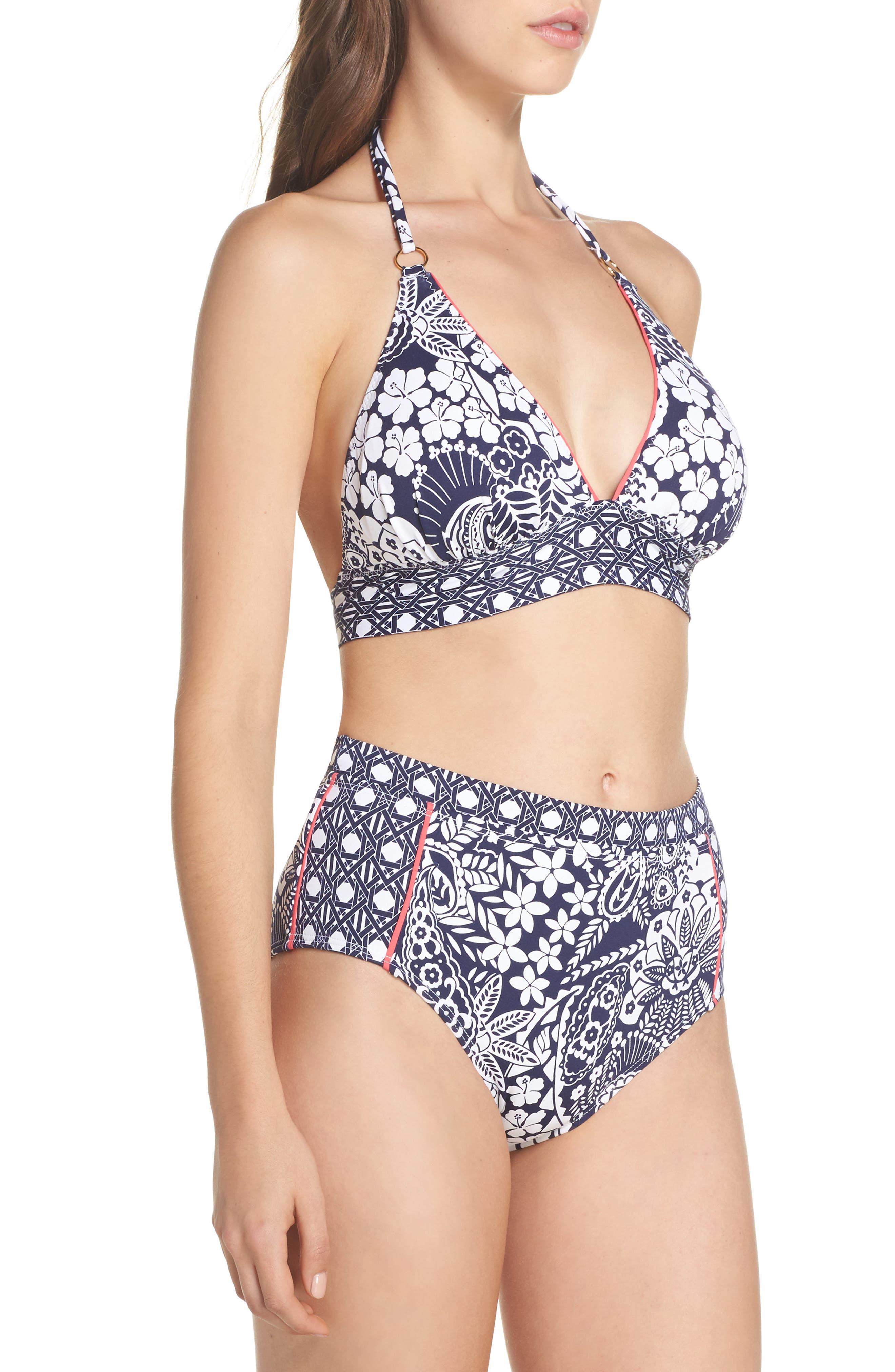 Paisley Paradise Halter Bikini Top,                             Alternate thumbnail 9, color,                             400