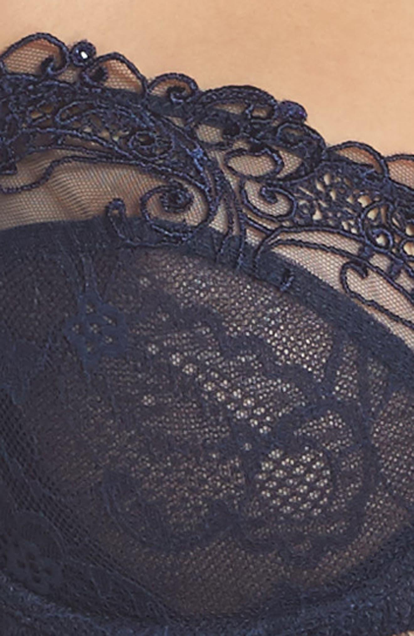 Demi Cup Lace Bra,                             Alternate thumbnail 4, color,                             400