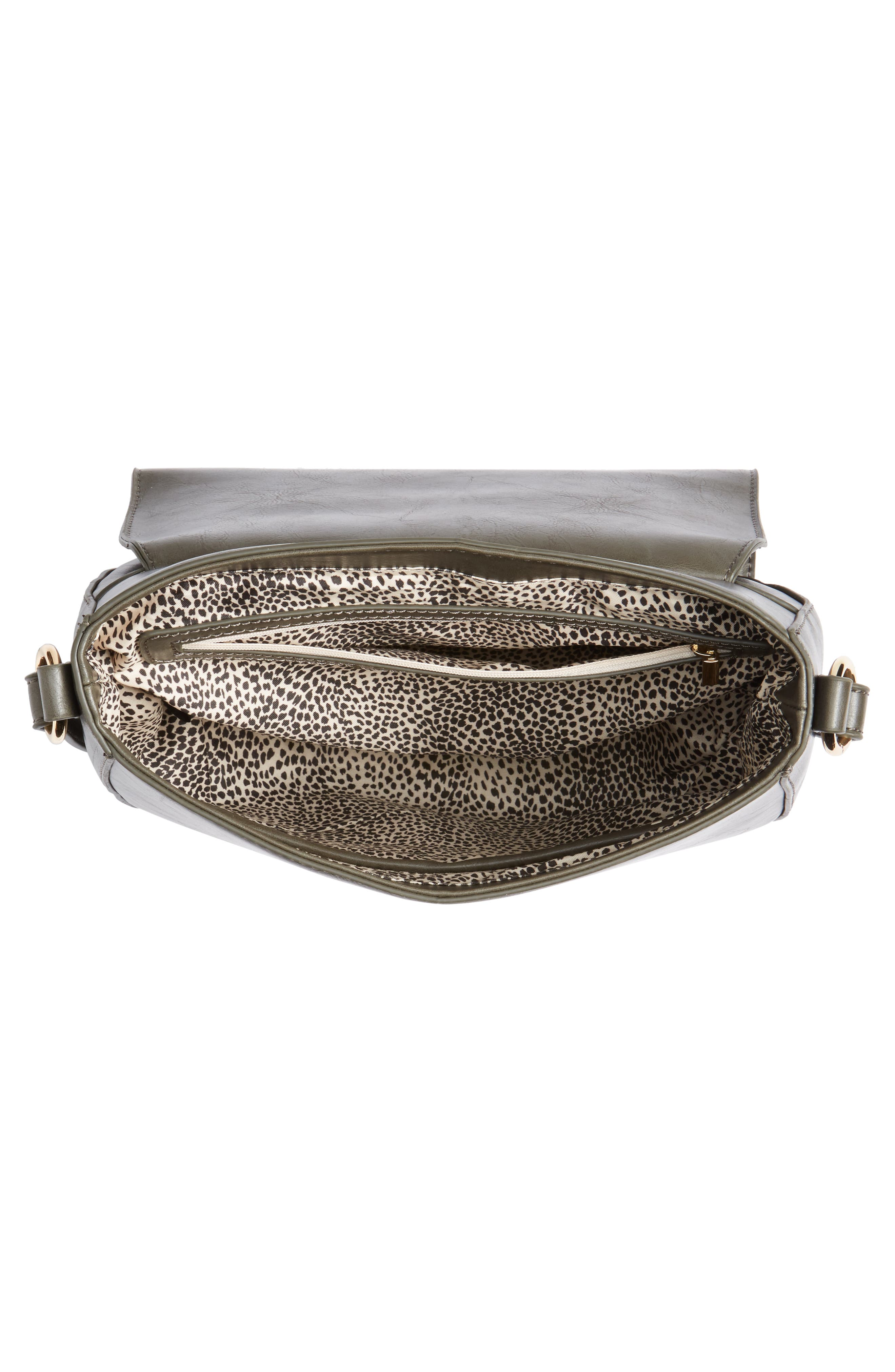 Piri Faux Leather Saddle Bag,                             Alternate thumbnail 11, color,