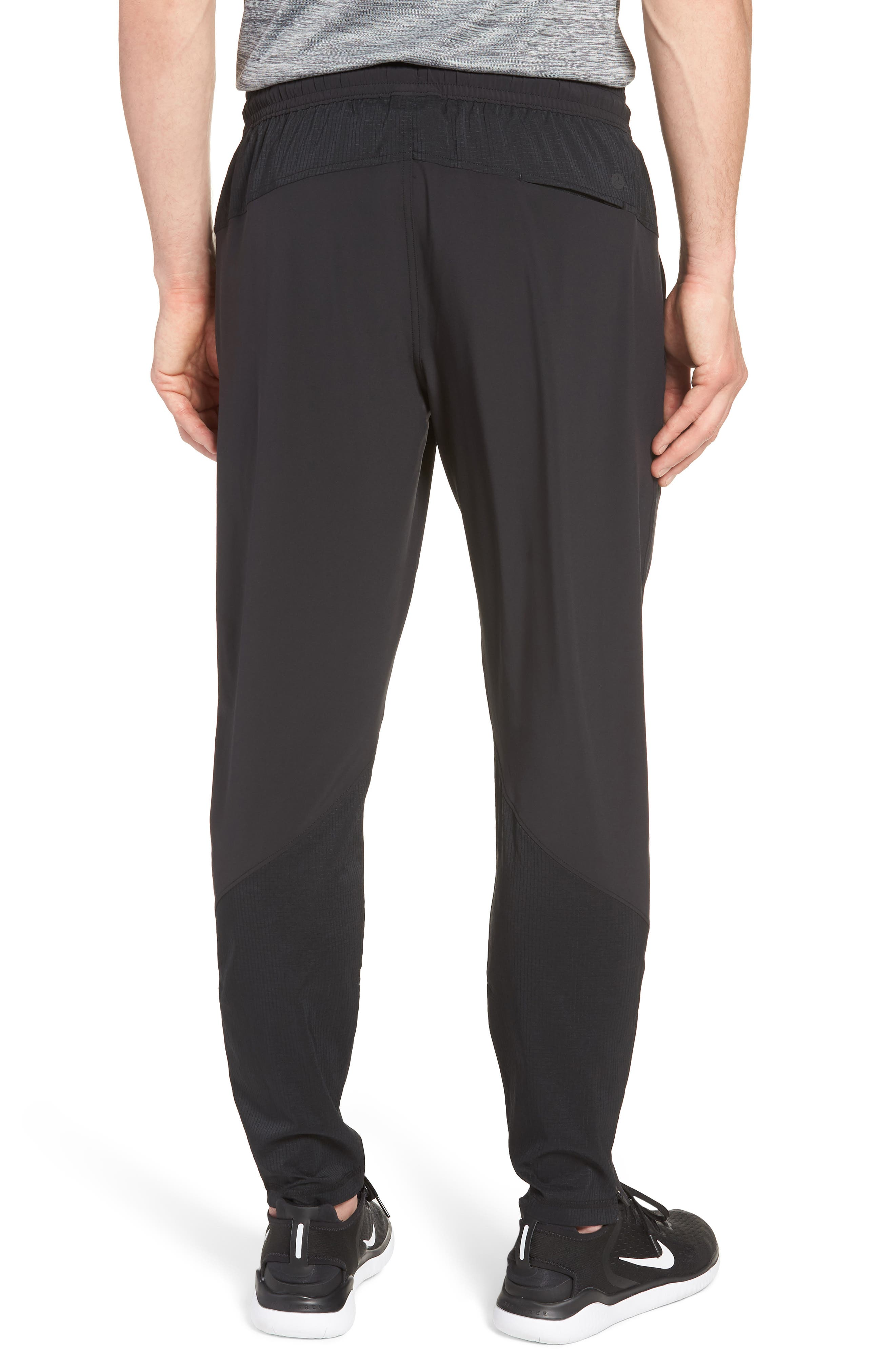 Graphite Tapered Athletic Pants,                             Alternate thumbnail 2, color,                             BLACK
