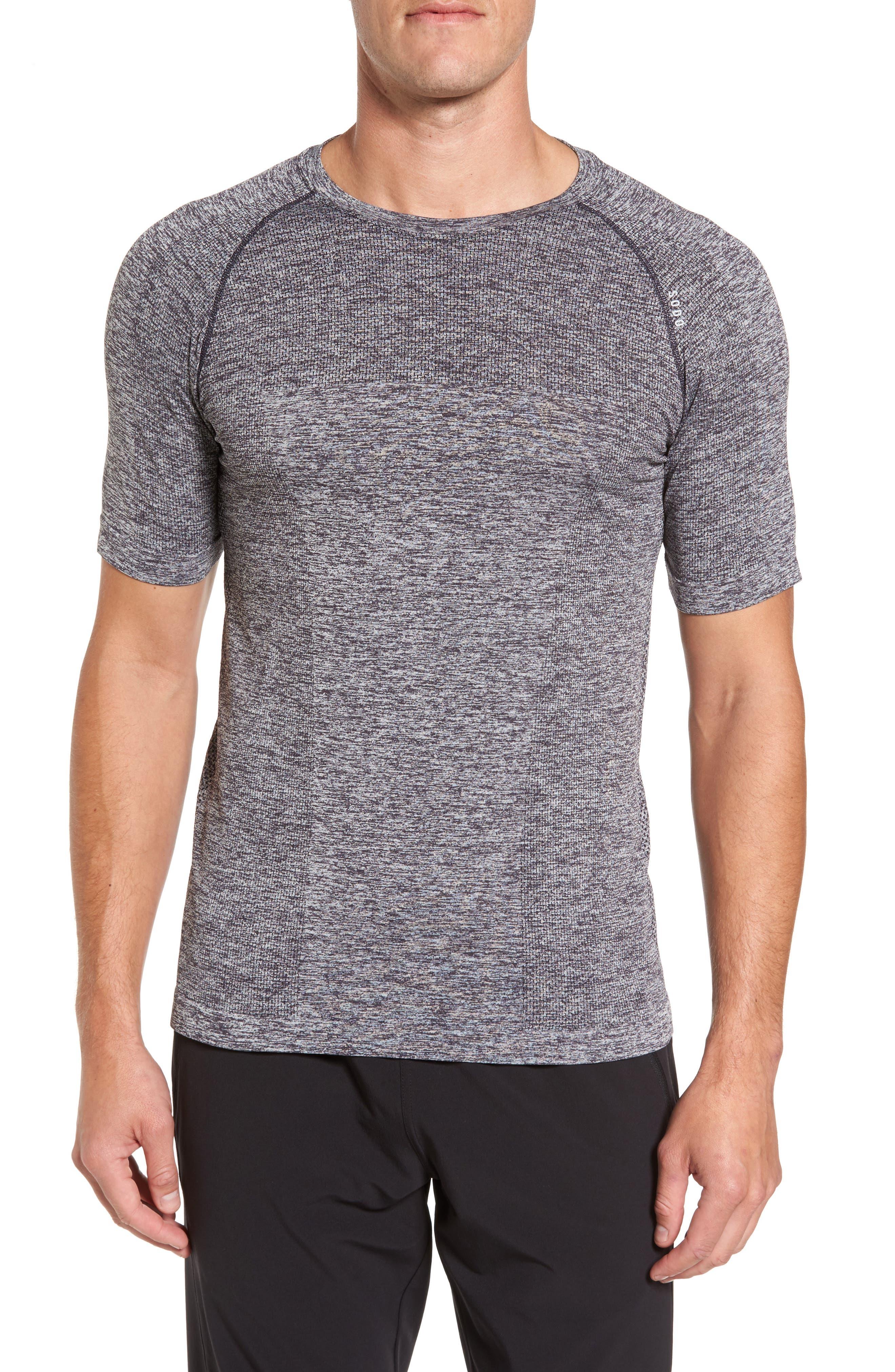Seamless Crewneck Performance T-Shirt,                         Main,                         color, 012
