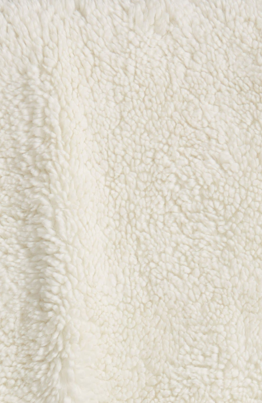 Nordstrom Jersey/Faux Fur Throw,                             Alternate thumbnail 12, color,