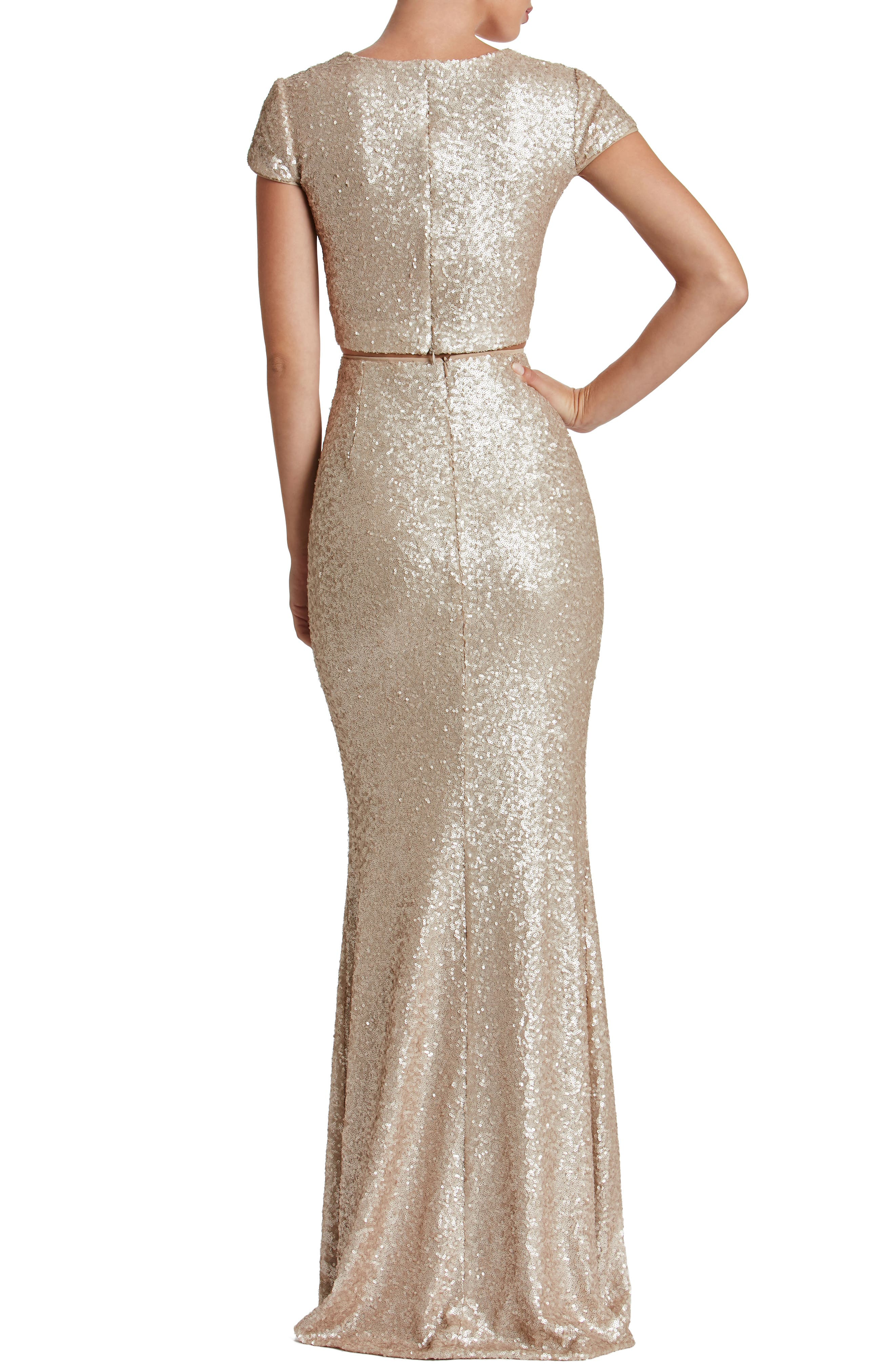 Cara Two-Piece Gown,                             Alternate thumbnail 9, color,