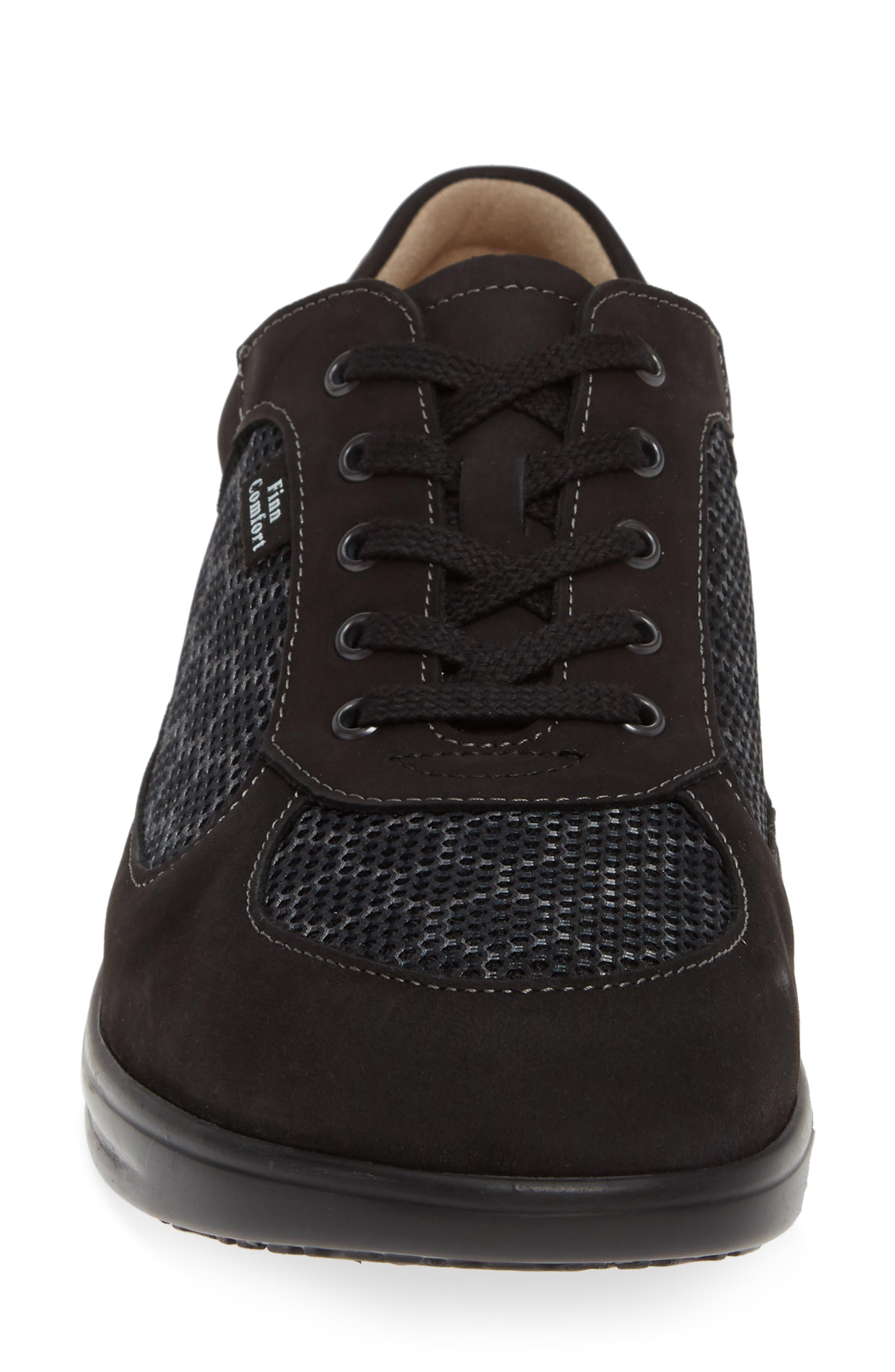'Columbia' Sneaker,                             Alternate thumbnail 4, color,                             BLACK NUBUCK LEATHER