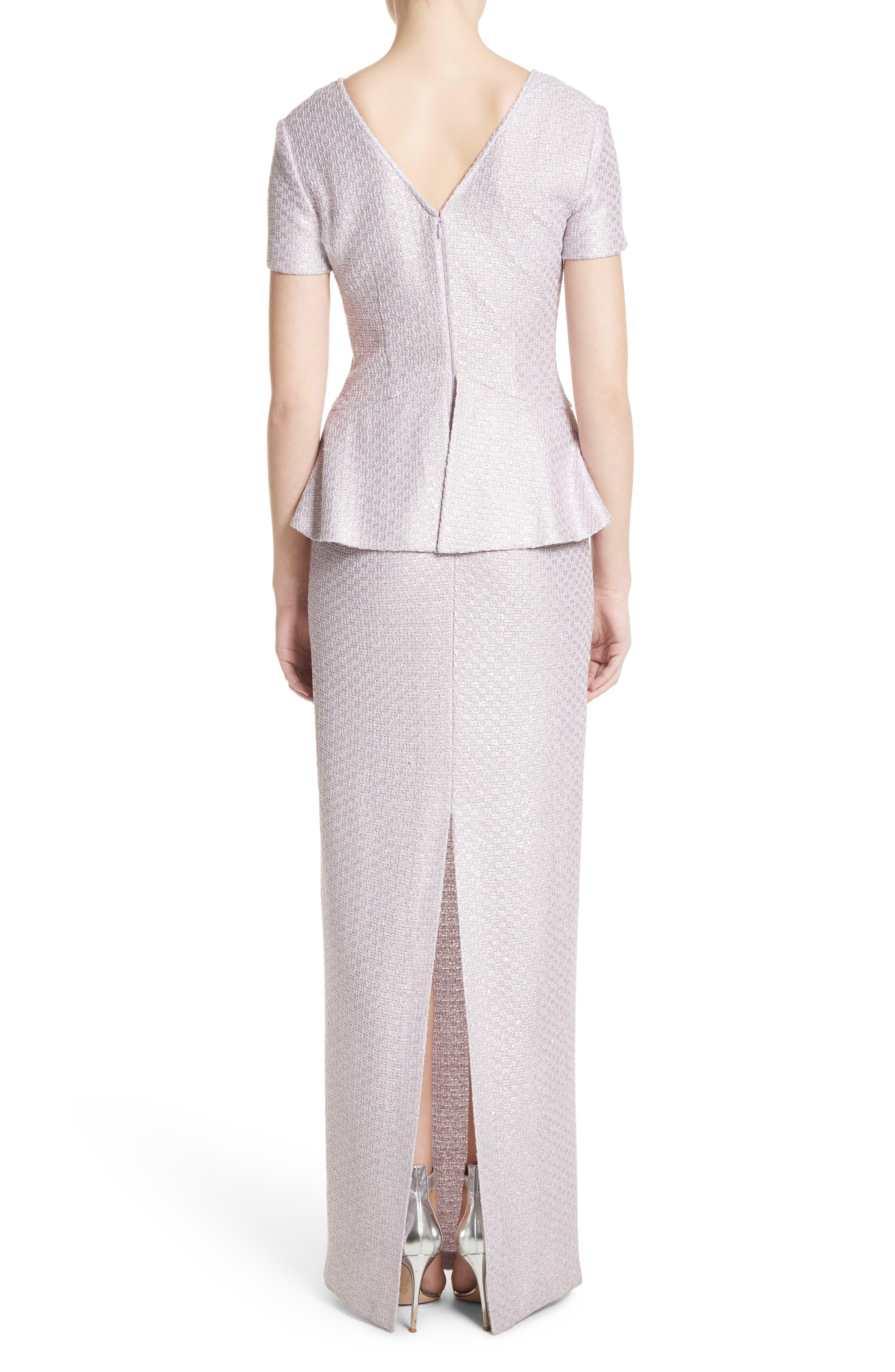 Hansh Sequin Knit Column Gown,                             Alternate thumbnail 2, color,