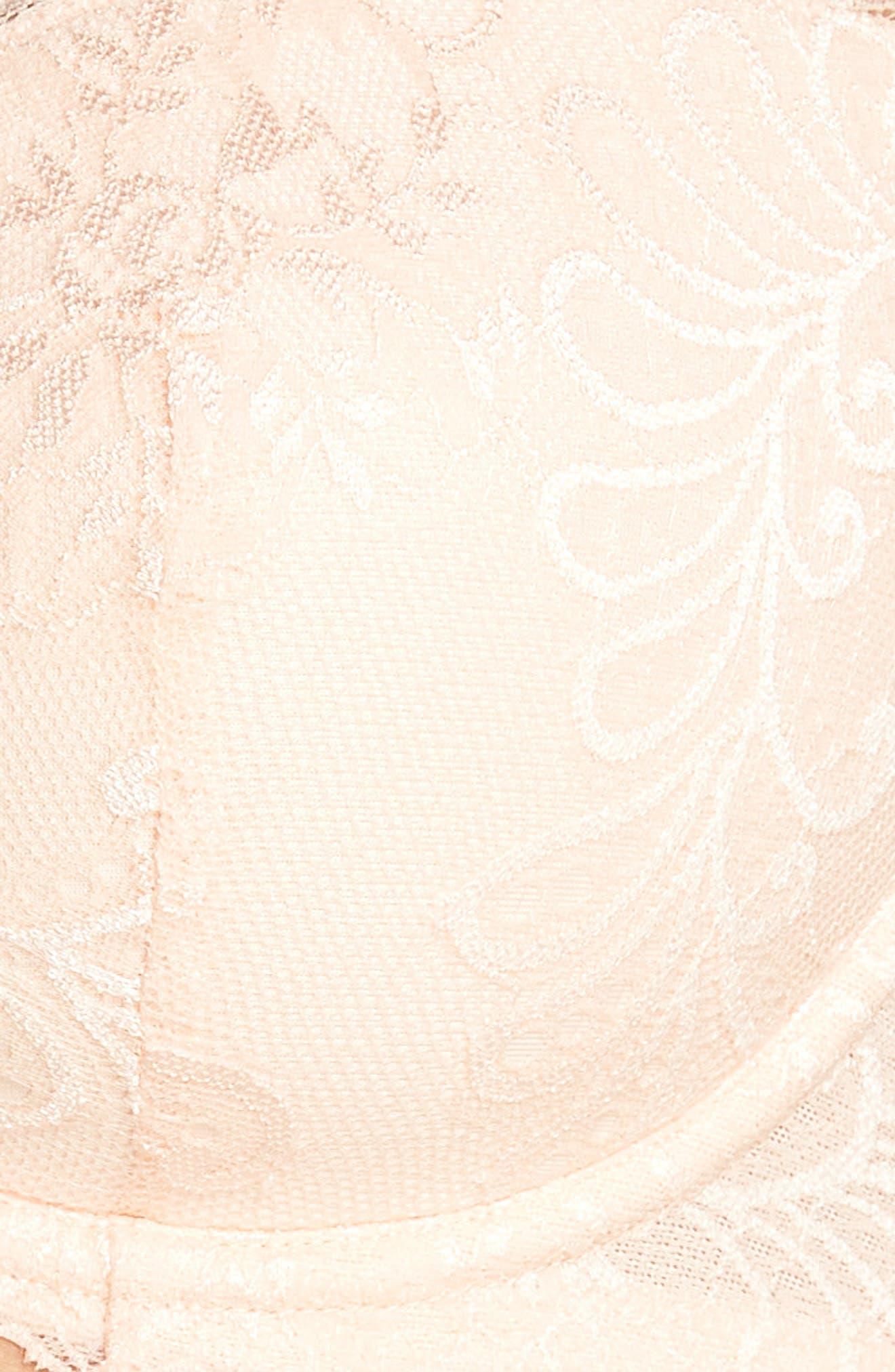 'Sophia'  Lace Underwire Bra,                             Alternate thumbnail 6, color,                             PEACH BLOSSOM