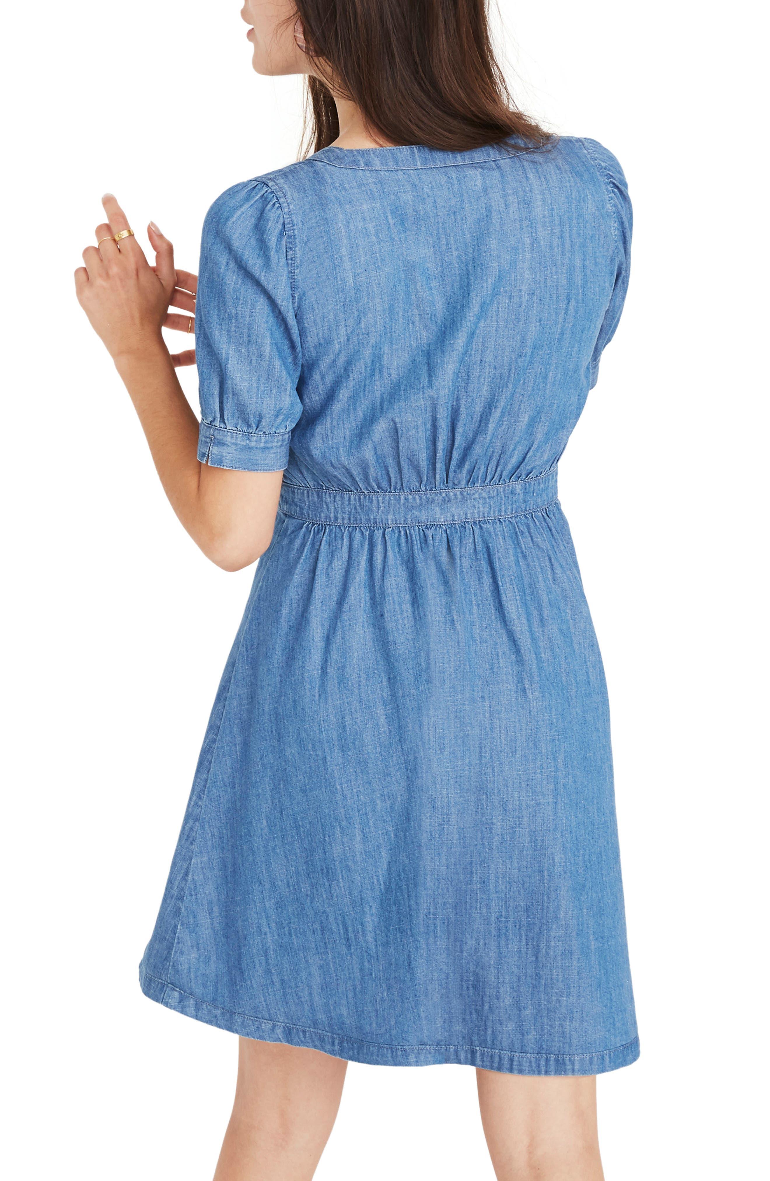Denim Daylily Dress,                             Alternate thumbnail 3, color,                             ANNETTA WASH
