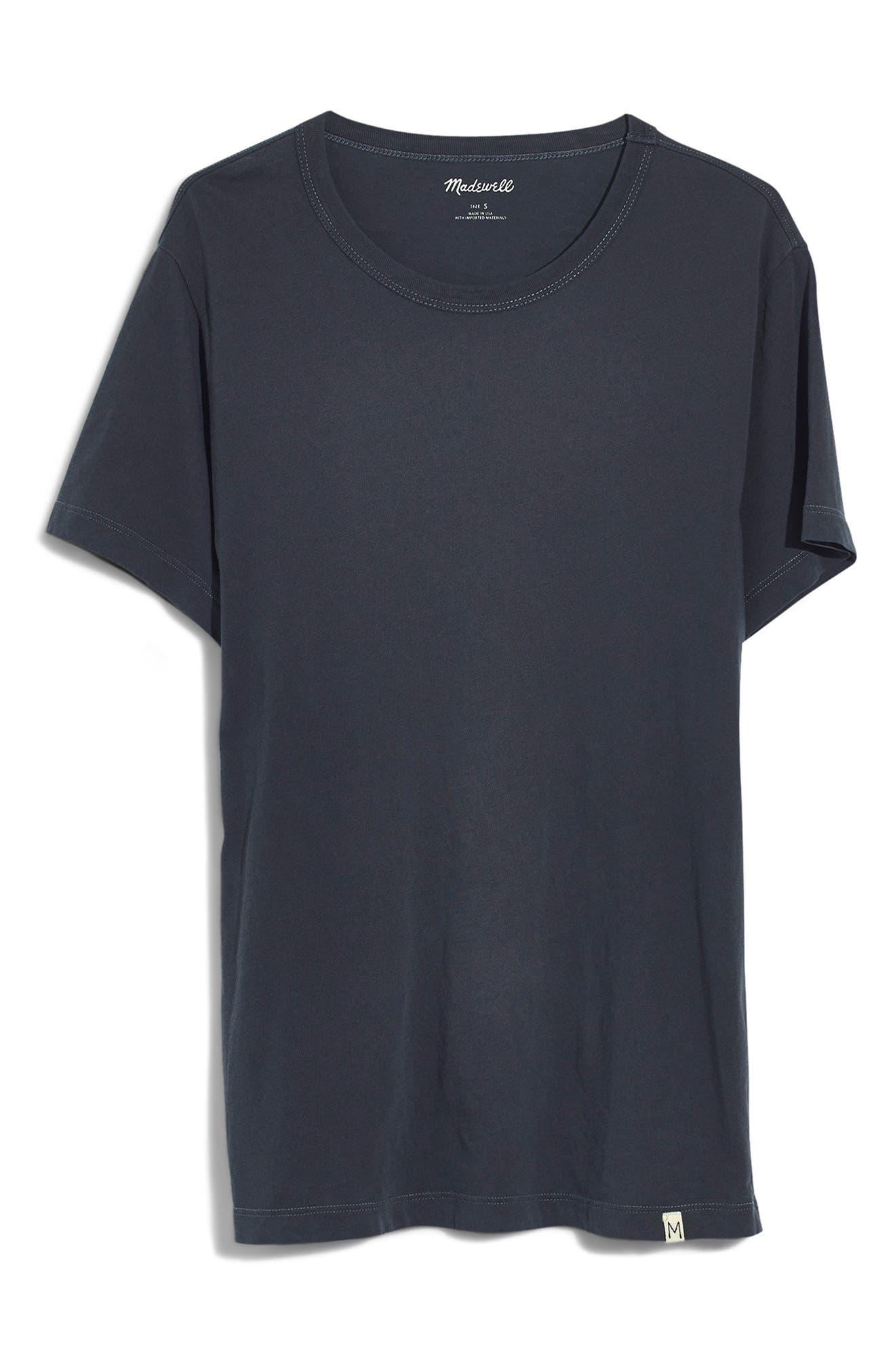 Crewneck T-Shirt,                             Alternate thumbnail 4, color,                             CLASSIC BLACK
