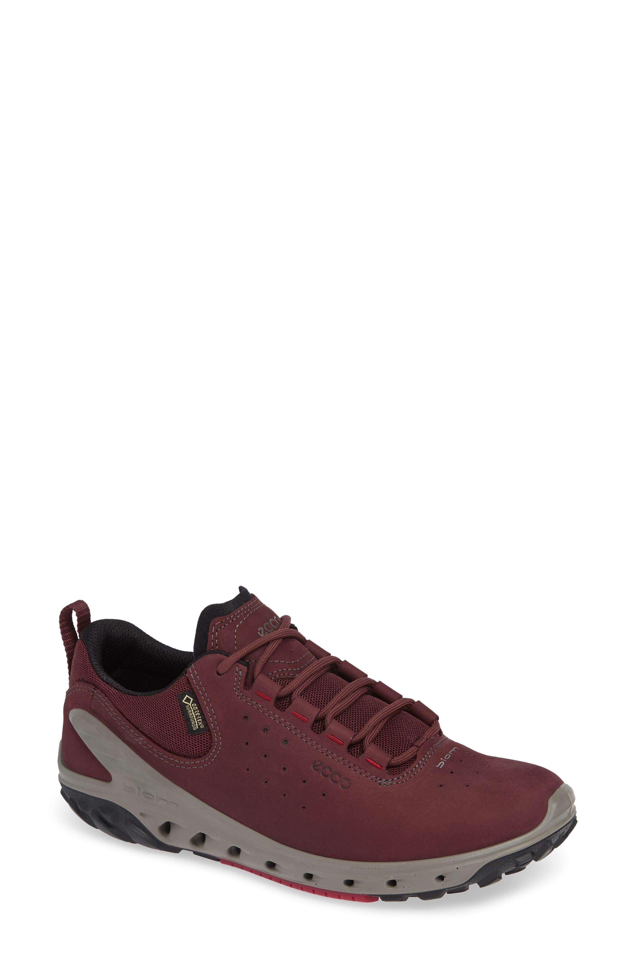 BIOM Venture GTX Sneaker,                         Main,                         color, WINE NUBUCK LEATHER