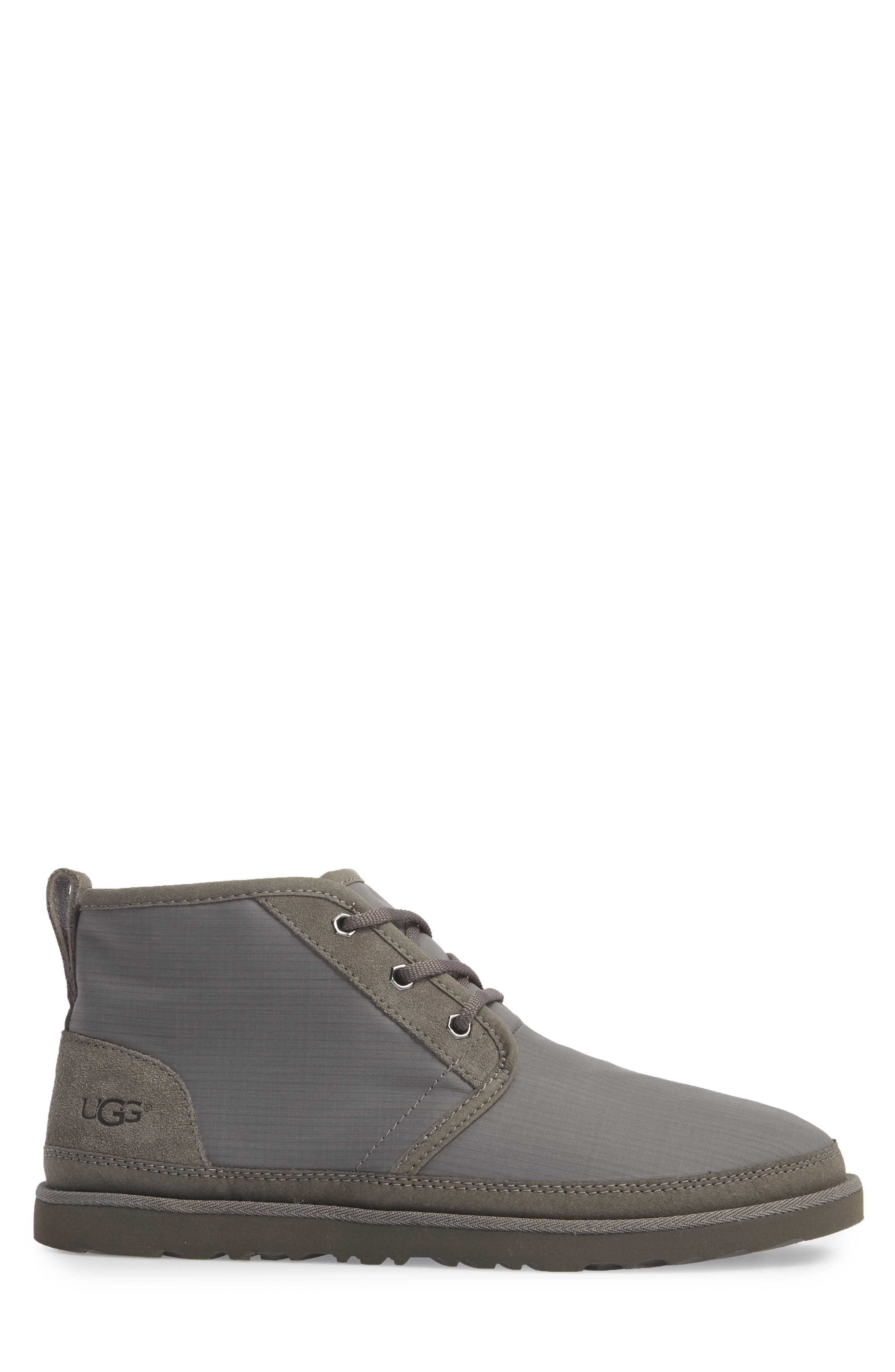 Neumel Ripstop Chukka Boot,                             Alternate thumbnail 3, color,                             CHARCOAL LEATHER