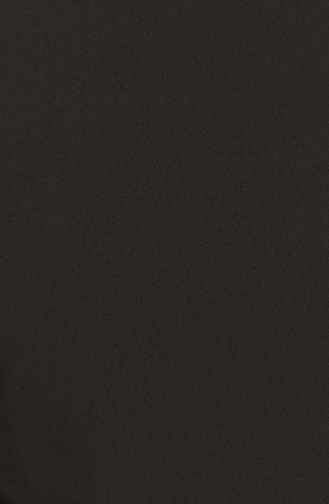 Cold Shoulder Midi Dress,                             Alternate thumbnail 5, color,                             001