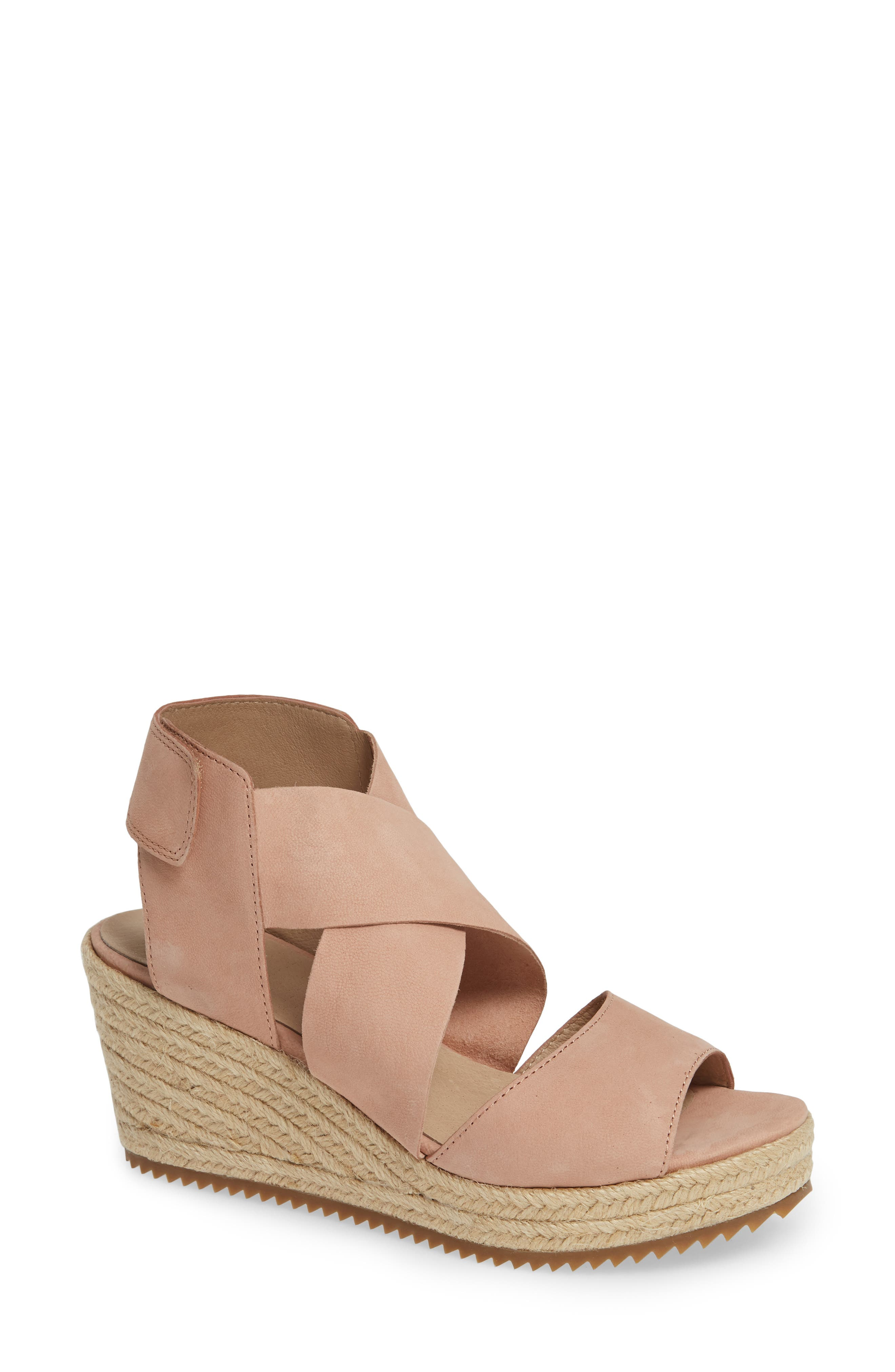 'Willow' Espadrille Wedge Sandal,                             Main thumbnail 1, color,                             TOFFEE CREAM NUBUCK